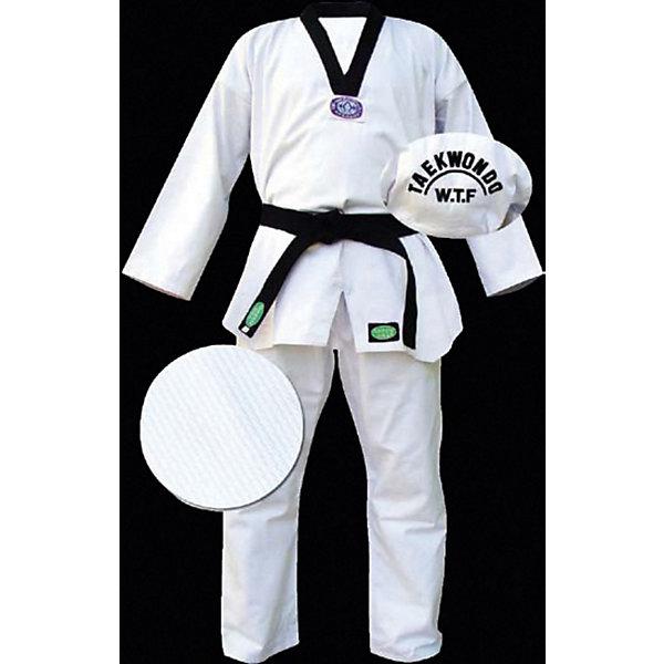 Кимоно Taekwondo CLUB  GREEN HILLСпортивная форма<br>Кимоно для занятий Тэквондо. Идеально подходит для тренировок и соревнований. Выполнено по требованиям W.T.F. В комплекте с кимоно идет белый пояс.<br><br>Дополнительная информация:<br><br>- Состав: хлопок 100%<br>- Размер упаковки:150 х 2 х 50 мм<br>- Вес с упаковкой: 975 г.<br><br>Кимоно Taekwondo CLUB  GREEN HILL можно купить в нашем магазине.<br><br>Ширина мм: 140<br>Глубина мм: 2<br>Высота мм: 50<br>Вес г: 970<br>Цвет: белый<br>Возраст от месяцев: 72<br>Возраст до месяцев: 144<br>Пол: Мужской<br>Возраст: Детский<br>Размер: 130,140<br>SKU: 3722425