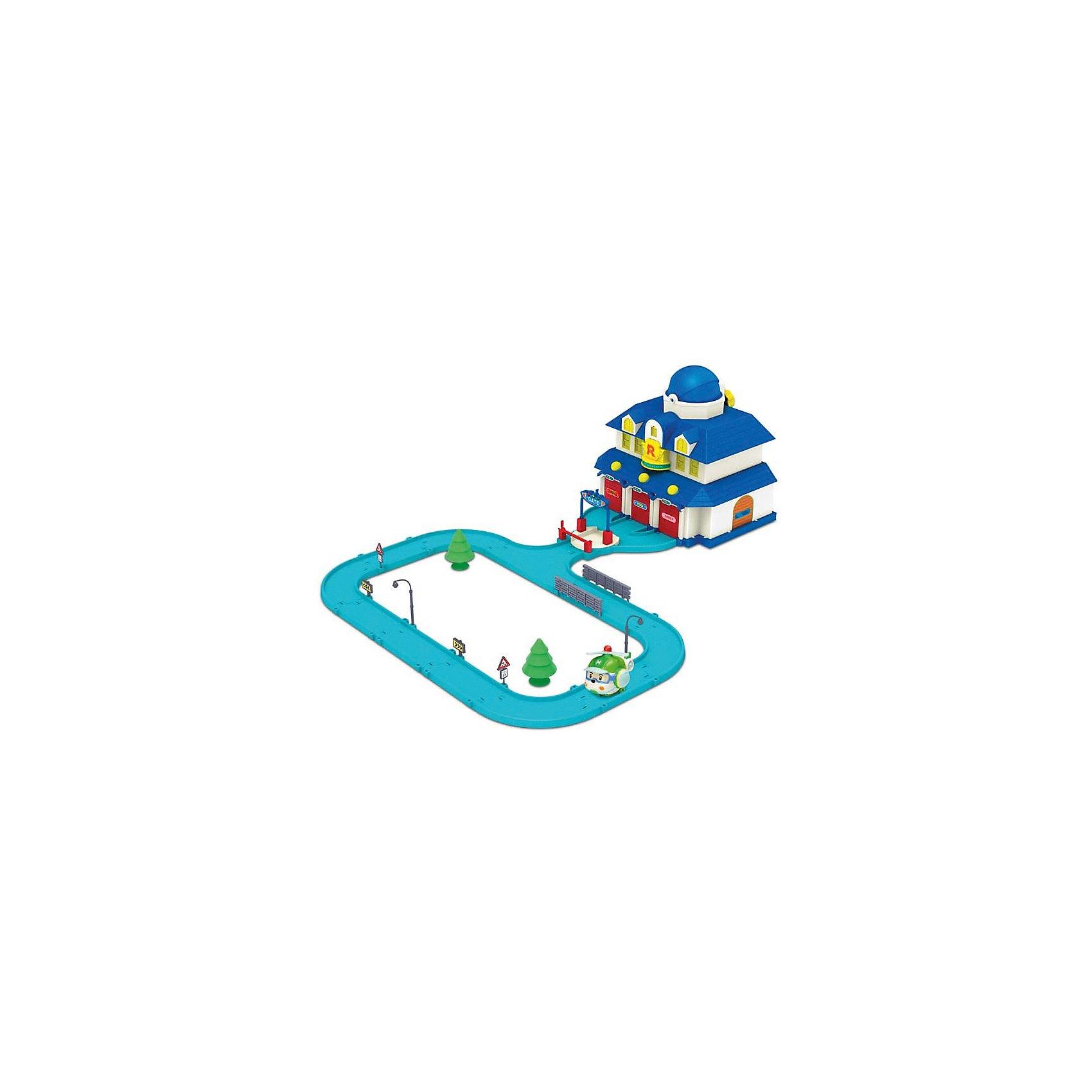 Игровой набор Штаб-квартира 60х80 см,  Робокар ПолиИгровой набор Штаб-квартира, Робокар Поли - увлекательный игровой набор, который обязательно понравится всем юным поклонникам мультсериала Робокар Поли (Robocar Poli). Спасательная команда служебных машинок всегда готова прийти на помощь жителям городка Брум и выручить в любой ситуации. В комплекте Вы найдете здание штаба машинок-спасателей и металлическую фигурку вертолета Хэли.<br><br>В здании штаба есть 3 гаража, на каждом из которых имеется собственная табличка с именем машинки-спасателя: Рой (Roy), Эмбер (Amber) и Поли (Poli). Дверцы гаражей открываются при нажатии кнопочек, расположенных над каждой дверью. Если удерживать кнопочку, пол в гараже приподнимается в наклонное положение и машинка выкатывается. На крыше установлен ангар для вертолетика Хэли, который открывается с помощью вращающейся ручки.<br> <br>Въезд в штаб-квартиру оборудован поднимающимся шлагбаумом и платформой, которая позволяет машинам в считанные секунды выезжать из гаражей. Крыша штаба на защелке поднимается, внутри можно разместить различные аксессуары и элементы набора. К зданию штаба примыкает круговая автотрасса, вдоль которой можно расставить входящие в комплект фигурки деревьев, дорожные знаки и фонарные столбы. Все детали имеют скругленные углы и безопасны для детей.<br><br>Дополнительная информация:<br><br>- В комплекте: здание штаб-квартиры, вертолет-спасатель Хэли, дополнительные элементы: зеленые деревья, дорожные знаки, фонарные столбы и ограждения.<br>- Материал: пластик, металл.<br>- Размер вертолета: 6 см. <br>- Размер игрушки: 60 х 80 см.<br>- Размер упаковки: 40 х 30 х 24 см.<br>- Вес: 2,5 кг.<br><br>Игровой набор Штаб-квартира, Робокар Поли можно купить в нашем интернет-магазине.<br><br>Ширина мм: 405<br>Глубина мм: 253<br>Высота мм: 314<br>Вес г: 2271<br>Возраст от месяцев: 36<br>Возраст до месяцев: 66<br>Пол: Унисекс<br>Возраст: Детский<br>SKU: 3722551