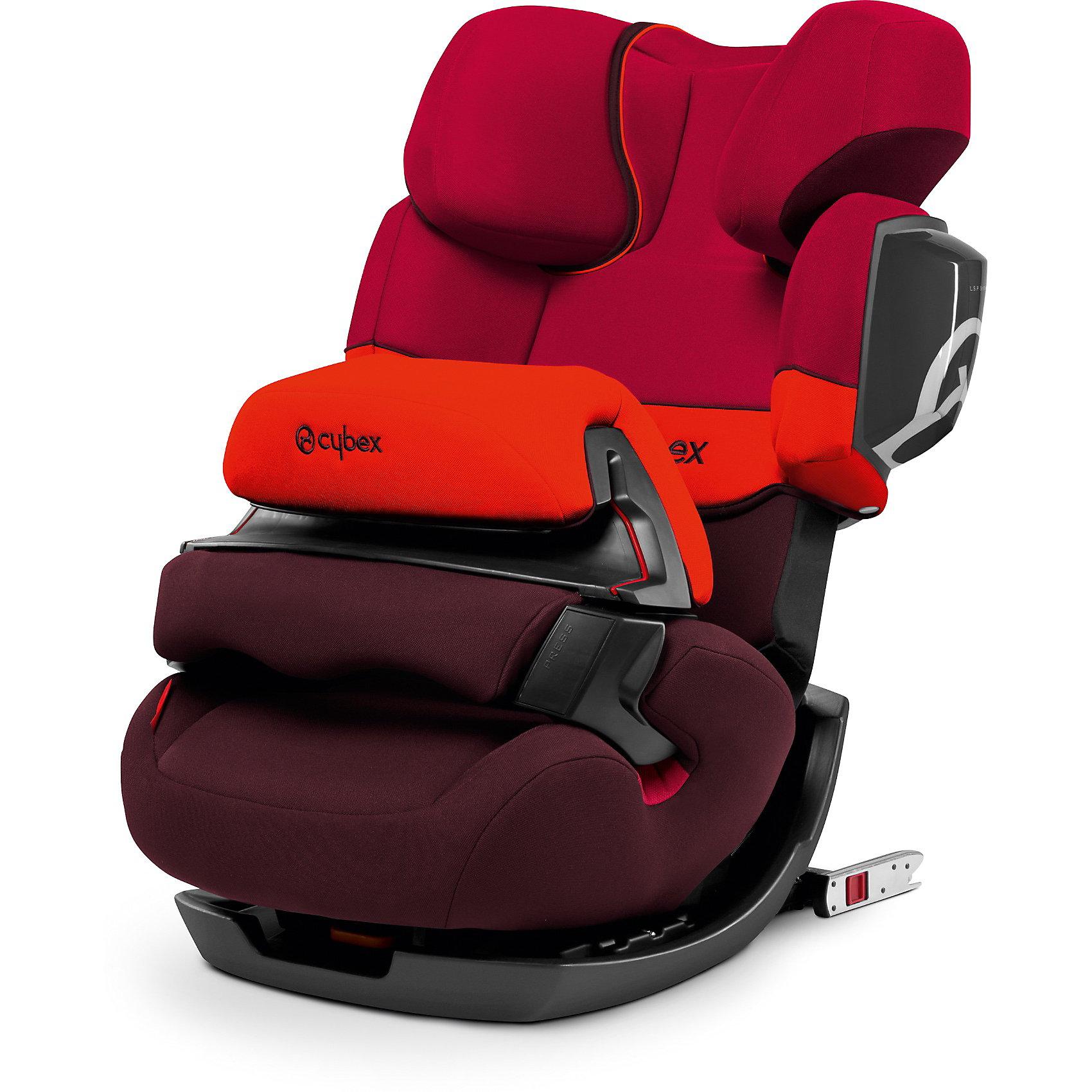 Автокресло Cybex Pallas 2-Fix, 9-36 кг, Rumba RedАвтокресла с креплением Isofix<br>Удобное надежное автокресло позволит перевозить ребенка, не беспокоясь при этом о его безопасности. Оно предназначено для предназначено для детей весом до 36 килограмм, можно использовать уже для 9-месячных малышей. Такое кресло обеспечит малышу не только безопасность, но и комфорт (регулируемая высота подголовника). Вместо пятиточечных ремней ребенок фиксируется при помощи защитного столика, не ограничивая ему свободы движений. Кресло легко трансформируется по мере вырастания ребенка.<br>Автокресло устанавливают по ходу движения. Такое кресло дает возможность свободно путешествовать, ездить в гости и при этом  быть рядом с малышом. Конструкция - очень удобная и прочная. Изделие произведено из качественных и безопасных для малышей материалов, оно соответствуют всем современным требованиям безопасности. Оно отлично показало себя на краш-тестах.<br> <br>Дополнительная информация:<br><br>цвет: красный;<br>материал: текстиль, пластик;<br>вес ребенка: до 36 кг (9 месяцев - 12 лет);<br>регулируемая подушка безопасности;<br>регулируемый по высоте подголовник;<br>съемный чехол;<br>по мере взросления ребенка трансформируется в бустер; <br>регулировка положения автокресла одной рукой;<br>регулируемый угол наклона;<br>можно использовать со штатными ремнями или с дополнительной базой;<br>крепление по ходу движения;<br>система защиты от боковых ударов;<br>соответствие Европейскому стандарту безопасности ЕСЕ R44/04.<br><br>АвтокреслоJuno Pallas 2-Fix, Rumba Red, от компании Cybex можно купить в нашем магазине.<br><br>Ширина мм: 740<br>Глубина мм: 475<br>Высота мм: 455<br>Вес г: 1290<br>Цвет: красный<br>Возраст от месяцев: 9<br>Возраст до месяцев: 144<br>Пол: Унисекс<br>Возраст: Детский<br>SKU: 3722563