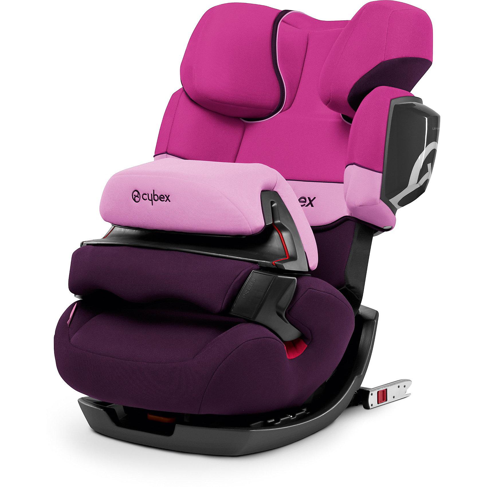 Автокресло Pallas 2-Fix, 9-36 кг., Cybex, Purple RainУдобное надежное автокресло позволит перевозить ребенка, не беспокоясь при этом о его безопасности. Оно предназначено для предназначено для детей весом до 36 килограмм, можно использовать уже для 9-месячных малышей. Такое кресло обеспечит малышу не только безопасность, но и комфорт (регулируемая высота подголовника). Вместо пятиточечных ремней ребенок фиксируется при помощи защитного столика, не ограничивая ему свободы движений. Кресло легко трансформируется по мере вырастания ребенка.<br>Автокресло устанавливают по ходу движения. Такое кресло дает возможность свободно путешествовать, ездить в гости и при этом  быть рядом с малышом. Конструкция - очень удобная и прочная. Изделие произведено из качественных и безопасных для малышей материалов, оно соответствуют всем современным требованиям безопасности. Оно отлично показало себя на краш-тестах.<br> <br>Дополнительная информация:<br><br>цвет: сиреневый;<br>материал: текстиль, пластик;<br>вес ребенка: до 36 кг (9 месяцев - 12 лет);<br>регулируемая подушка безопасности;<br>регулируемый по высоте подголовник;<br>съемный чехол;<br>по мере взросления ребенка трансформируется в бустер; <br>регулировка положения автокресла одной рукой;<br>регулируемый угол наклона;<br>можно использовать со штатными ремнями или с дополнительной базой;<br>крепление по ходу движения;<br>система защиты от боковых ударов;<br>соответствие Европейскому стандарту безопасности ЕСЕ R44/04.<br><br>АвтокреслоJuno Pallas 2-Fix, Purple Rain, от компании Cybex можно купить в нашем магазине.<br><br>Ширина мм: 740<br>Глубина мм: 470<br>Высота мм: 450<br>Вес г: 12900<br>Цвет: лиловый<br>Возраст от месяцев: 9<br>Возраст до месяцев: 144<br>Пол: Женский<br>Возраст: Детский<br>SKU: 3722564