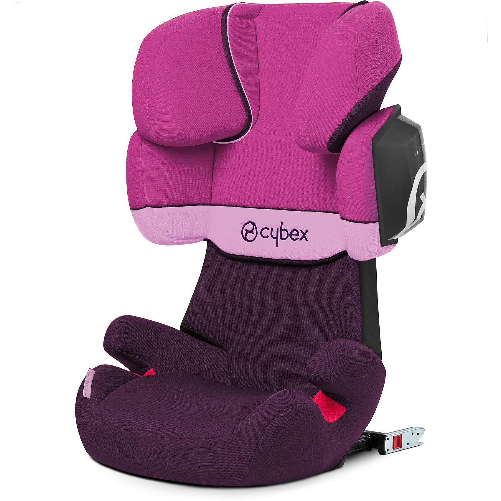 Автокресло Cybex Solution X2-Fix, 15-36 кг, Purple RainАвтокресла с креплением Isofix<br>Удобное надежное автокресло позволит перевозить ребенка, не беспокоясь при этом о его безопасности. Оно предназначено для предназначено для детей весом до 36 килограмм, можно использовать уже для 9-месячных малышей. Такое кресло обеспечит малышу не только безопасность, но и комфорт (регулируемая высота подголовника). Кресло легко трансформируется по мере вырастания ребенка.<br>Автокресло устанавливают по ходу движения. Такое кресло дает возможность свободно путешествовать, ездить в гости и при этом  быть рядом с малышом. Конструкция - очень удобная и прочная. Изделие произведено из качественных и безопасных для малышей материалов, оно соответствуют всем современным требованиям безопасности. Оно отлично показало себя на краш-тестах.<br> <br>Дополнительная информация:<br><br>цвет: сиреневый;<br>материал: текстиль, пластик;<br>вес ребенка: до 36 кг (3 года - 12 лет);<br>регулируемый по высоте подголовник;<br>съемный чехол;<br>по мере взросления ребенка трансформируется; <br>регулируемый угол наклона;<br>можно использовать со штатными ремнями или с дополнительной базой;<br>крепление по ходу движения;<br>система защиты от боковых ударов;<br>соответствие Европейскому стандарту безопасности ЕСЕ R44/04.<br><br>АвтокреслоJuno Solution X2-Fix, Purple Rain, от компании Cybex можно купить в нашем магазине.<br><br>Ширина мм: 785<br>Глубина мм: 482<br>Высота мм: 330<br>Вес г: 8102<br>Цвет: лиловый<br>Возраст от месяцев: 36<br>Возраст до месяцев: 144<br>Пол: Женский<br>Возраст: Детский<br>SKU: 3722570