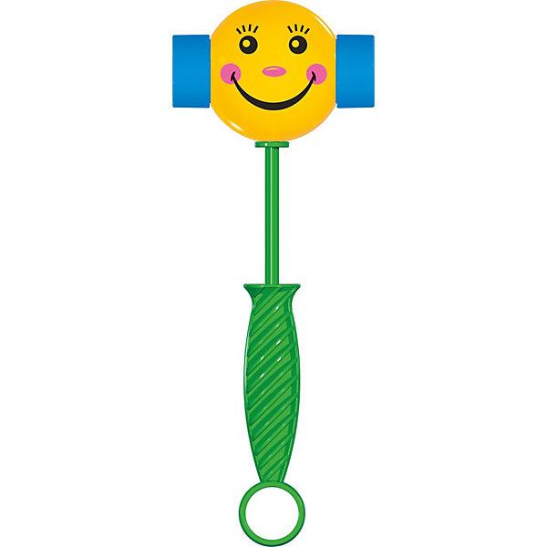 Веселый молоточек, СтелларРазвивающие игрушки<br>Веселый молоточек, Стеллар (Stellar) - красочная яркая погремушка, которая позабавит и порадует Вашего малыша. У молоточка веселая улыбающаяся мордочка, ручка удобна для пальчиков малыша. Если потрясти молоточек, он начинает пищать.<br><br>Дополнительная информация:<br><br>- Материал: пластик.<br>- Размер: 12,5 х 1,5 х 25 см.<br>- Вес с упаковкой: 60 гр.<br>- Цвет в ассортименте.<br><br>Игрушку Веселый молоточек, Стеллар можно купить в нашем интернет-магазине.<br><br>ВНИМАНИЕ! Данный артикул имеется в наличии в разных цветовых исполнениях. К сожалению, заранее выбрать определенный цвет невозможно. При заказе нескольких позиций возможно получение одинаковых.<br><br>Ширина мм: 15<br>Глубина мм: 125<br>Высота мм: 250<br>Вес г: 50<br>Возраст от месяцев: 0<br>Возраст до месяцев: 24<br>Пол: Унисекс<br>Возраст: Детский<br>SKU: 3725726