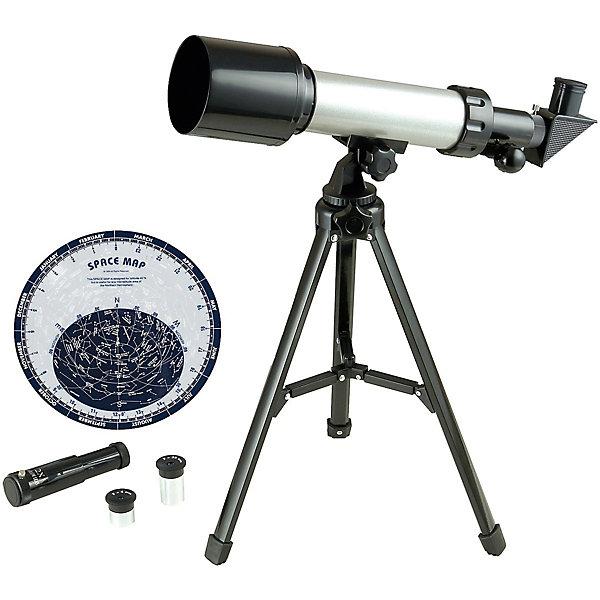 Телескоп TS057, EDU-TOYSТелескопы<br>Телескоп - прекрасный подарок для маленьких астрономов. Он обеспечит отличное наблюдение, поможет  глубже окунуться в тайны космоса, поможет привить у ребенка любовь к науке и обучению. <br><br>Дополнительная информация:<br><br>- Материал: металл, пластик. <br>- Объектива: 50 мм<br>- Фокусное расстояние: 500 мм<br>- Алюминиевый штатив: 89 см<br>- Окуляр: 4 мм, 20 мм<br>- Видоискатель: 6x25мм.<br>- Комплектация: телескоп, карта звездного неба, инструкция. <br>Внимание! Никогда не направляйте телескоп на солнце. <br><br>Телескоп TS057, EDU-TOYS можно купить в нашем магазине.<br>Ширина мм: 439; Глубина мм: 230; Высота мм: 101; Вес г: 1049; Возраст от месяцев: 96; Возраст до месяцев: 168; Пол: Унисекс; Возраст: Детский; SKU: 3726021;