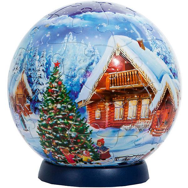 Новогодний пазл-шар на ёлку, Step Puzzle, 7 см3D пазлы<br>Новогодний пазл-шар, Step Puzzle станет пррекрасным подарком как детям, так и взрослым. Детали пазла выполнены с высоким качеством и четко стыкуются друг с другом.<br>Сборку пазла можно осуществлять как по картинке, так и по цифрам, нанесённым на тыльной стороне изогнутых элементов. Для удобства сборки в комплект входит пластиковая подставка и шнурок, которая позволяет повесить собранный шар-пазл StepBall на ёлку.<br><br>Дополнительная информация:<br><br>- диаметр: 7 см<br>- количество элементов: 60<br>- в комплекте также подставка и шнурок<br><br>ВНИМАНИЕ: Данный артикул представлен в разных вариантах исполнения. К сожалению, заранее выбрать определенный вариант невозможно. При заказе нескольких шаров возможно получение одинаковых. В ассортименте также представлены шары-пазлы с лицензией героев Дисней.<br><br>Новогодний пазл-шар, Step Puzzle, 7 см можно купить в нашем магазине.<br>Ширина мм: 80; Глубина мм: 80; Высота мм: 80; Вес г: 120; Возраст от месяцев: 72; Возраст до месяцев: 1188; Пол: Унисекс; Возраст: Детский; SKU: 3730612;