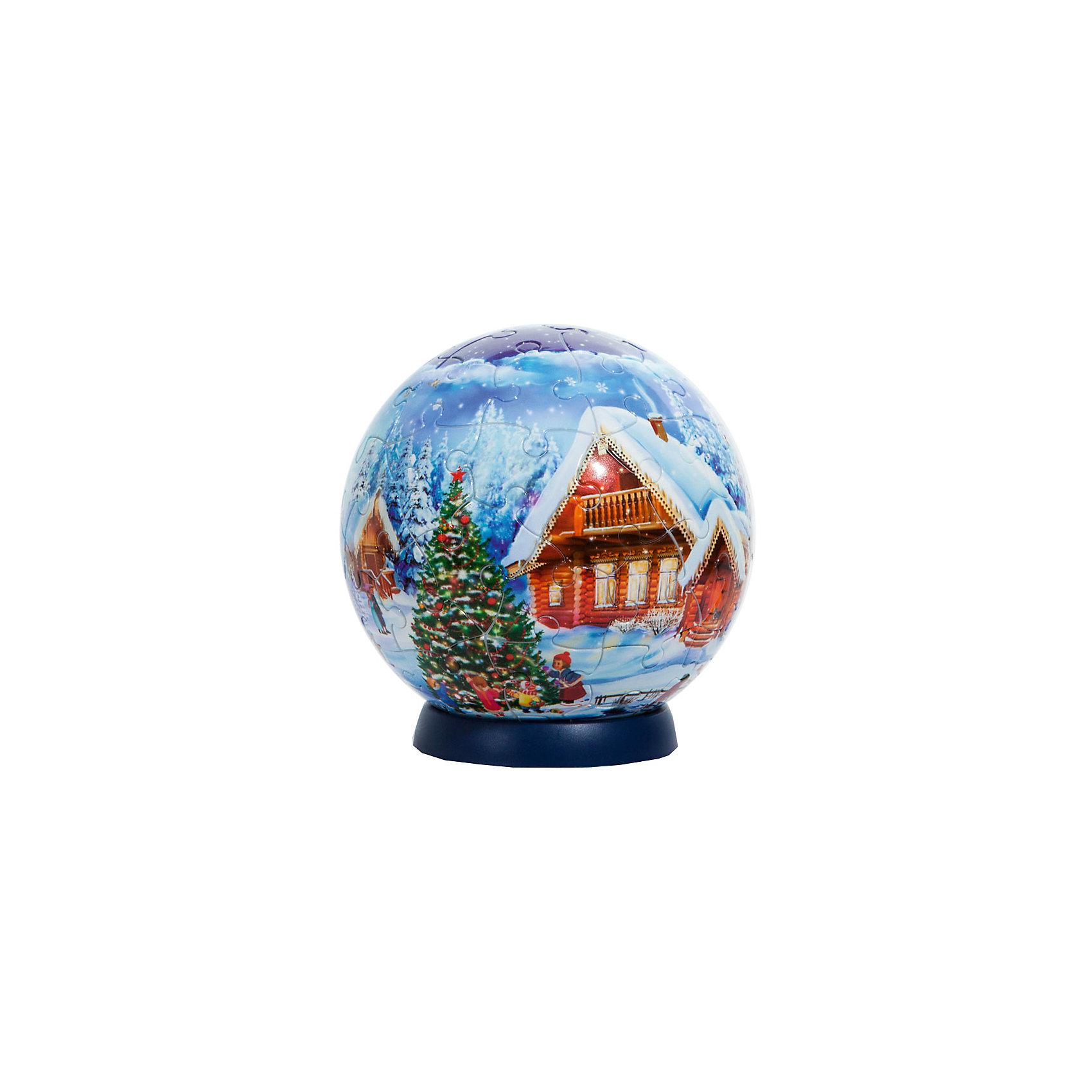 Новогодний пазл-шар на ёлку, Step Puzzle, 7 см