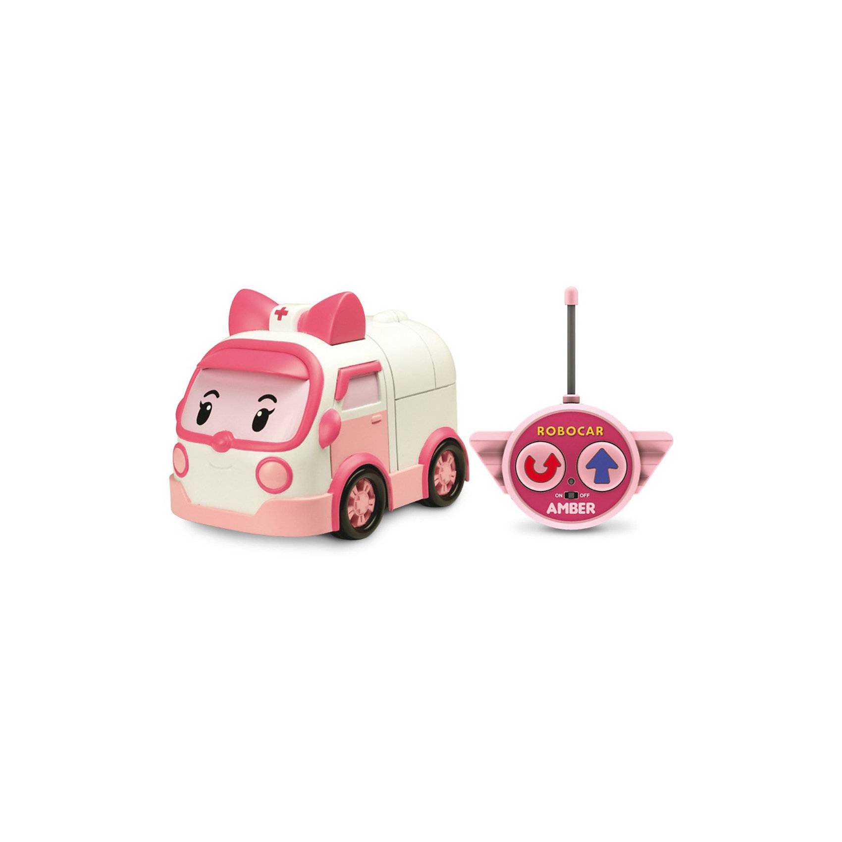 Silverlit Игрушка Эмбер на радиоуправлении, 15см, Робокар Поли игрушка на радиоуправлении
