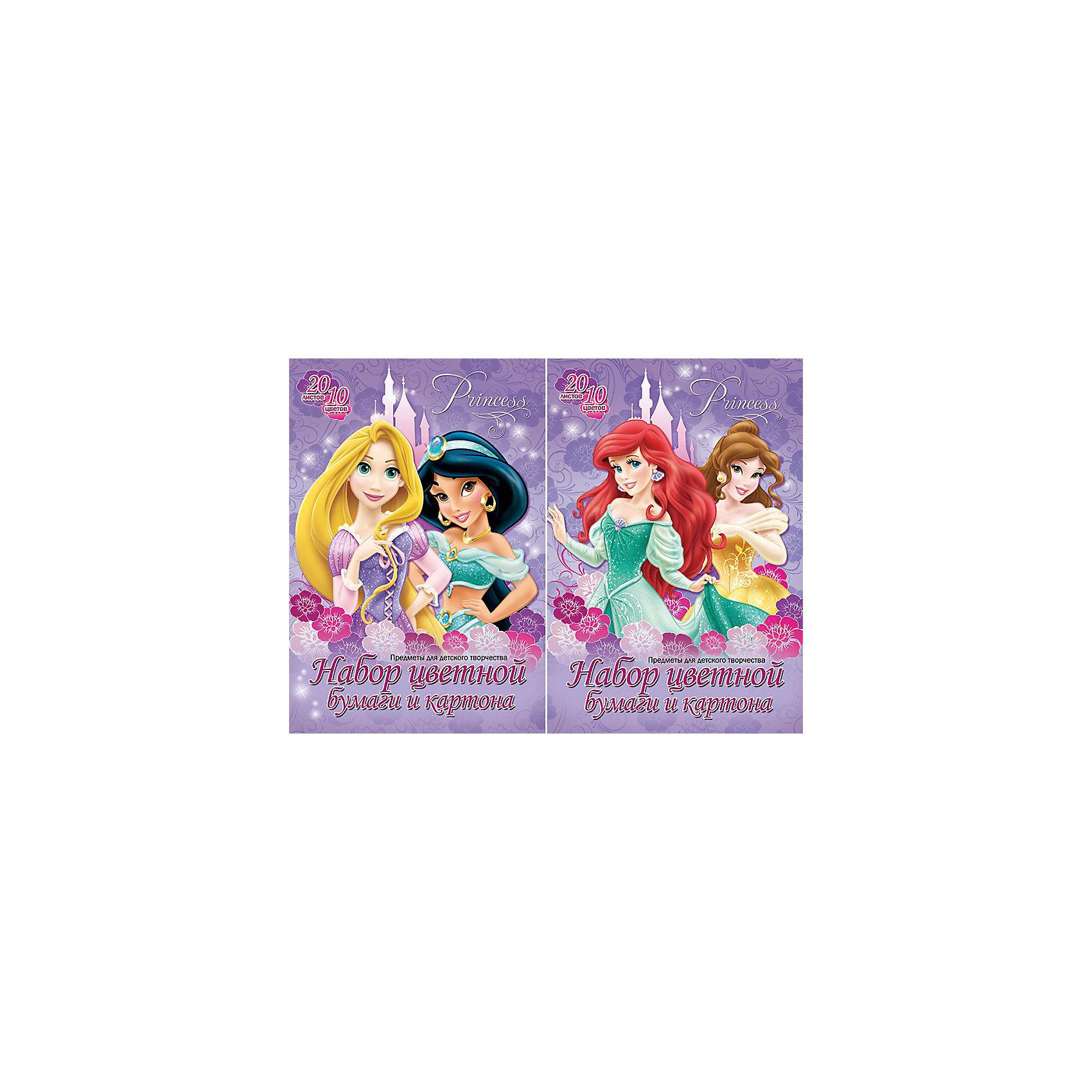 Цветной картон и бумага, 10 цветов, 20л, Принцессы ДиснейНабор цветного картона и бумаги Disney Princess (Принцессы Диснея) - это отличный материал для детского творчества, поделок и аппликаций. В комплект входят 20 листов цветного картона и бумаги 10 цветов. Листы упакованы в картонную папку с изображениями волшебных принцесс из диснеевских мультфильмов.<br><br>Дополнительная информация:<br><br>- Материал: бумага, картон. <br>- Объем: 20 л.<br>- Размер: 20 х 29 х 0,4 см.<br>- Вес: 260 гр.<br><br>Цветной картон и бумагу, 10 цветов, Disney Princess можно купить в нашем интернет-магазине.<br><br>Ширина мм: 200<br>Глубина мм: 290<br>Высота мм: 4<br>Вес г: 260<br>Возраст от месяцев: 48<br>Возраст до месяцев: 84<br>Пол: Женский<br>Возраст: Детский<br>SKU: 3734087