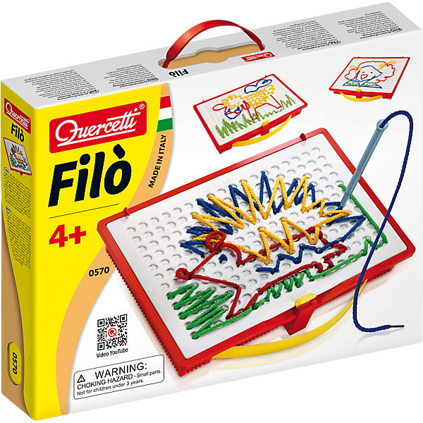 Набор для вышивания Quercetti, ФилоШитьё<br>Характеристики товара:<br><br>• возраст: от 4 лет;<br>• в комплекте:4 специальных ручки для вышивки, 8 ниток, доска для вышивки, 18 карточек, кейс для хранения, инструкция;<br>• материал: пластмасса;<br>• размер упаковки: 36х28х6 см;<br>• вес упаковки: 665 гр.<br><br>Набор для вышивания Quercetti, Фило – позволит создавать веселые и яркие картинки, причем делать это можно несколько раз- достаточно распустить катинку, и можно собирать заново!<br><br>Достаточно просто пропустить нитку в специальную ручку, вставить ее в отверстие доски- и можно создавать самые разные рисунки.<br><br>Набор для вышивания Quercetti, Фило можно купить в нашем интернет-магазине.<br>Ширина мм: 368; Глубина мм: 284; Высота мм: 63; Вес г: 666; Возраст от месяцев: 48; Возраст до месяцев: 72; Пол: Унисекс; Возраст: Детский; SKU: 3735371;