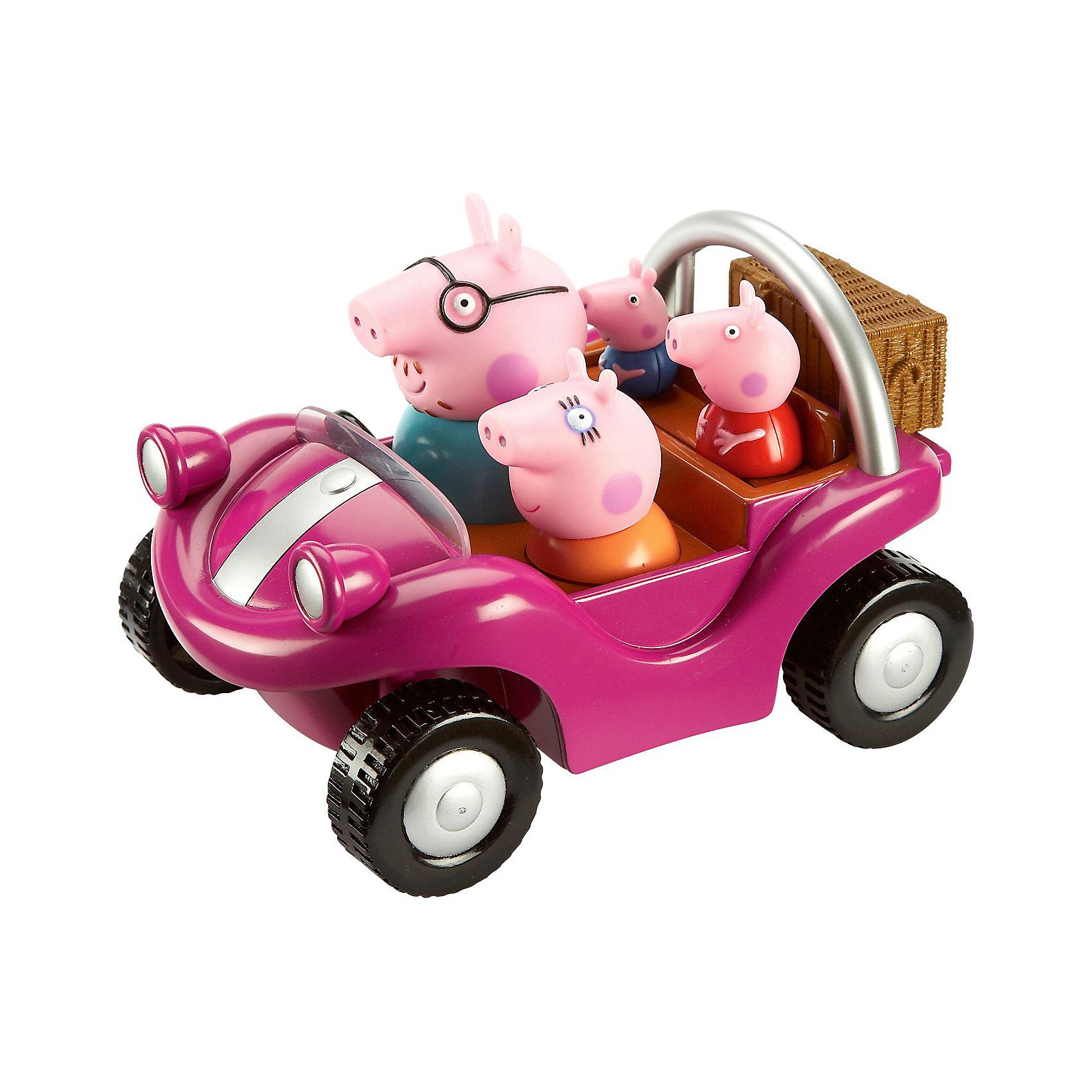 Игровой набор Спортивная машина, Свинка ПеппаИгрушки<br>Пеппа и ее семья решили прокатиться в стильном спортивном автомобиле: папа и мама сели спереди, а Пеппа и Джордж – сзади. Теперь они могут отправиться в магазин, на пикник или даже поучаствовать в спортивных соревнованиях. Веселая семья Пеппы не привыкла скучать!&#13;<br>&#13;<br>Дополнительная информация:<br><br>- В игровом наборе «Спортивная машина» «Свинка Пеппа»: машина размером 20 х 13 см, 4 несъемные фигурки: мама, папа, Пеппа, Джордж.<br>- Игрушки изготовлены из высококачественного безопасного пластика. <br><br>Игровой набор Спортивная машина, Свинка Пепа (Peppa Pig) можно купить в нашем магазине.<br><br>Ширина мм: 240<br>Глубина мм: 165<br>Высота мм: 146<br>Вес г: 600<br>Возраст от месяцев: 36<br>Возраст до месяцев: 72<br>Пол: Унисекс<br>Возраст: Детский<br>SKU: 3737370