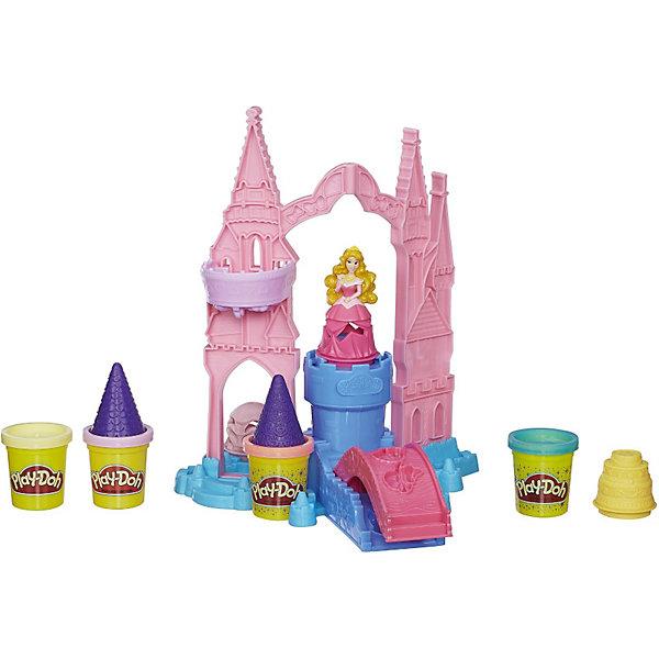 Игровой набор Чудесный замок Авроры,Play-DohНаборы для лепки<br>Игровой набор Чудесный замок Авроры, Play-Doh (Плей До) - замечательный набор для игр и творчества, который порадует всех юных поклонниц диснеевских сказок о волшебных принцессах. В комплект входят детали для сборки роскошного замка принцессы Авроры с красивым, ярко-розовым мостом, множеством аксессуаров и фигуркой принцессы. С помощью деталей и 4 баночек пластилина, два из которых с блестками, Ваша малышка сможет украсить замок на свой вкус.<br><br>Пластилином можно украсить не только замок, но также платье принцессы и тортик, который она приготовила для своих гостей. Пластилин Play-Doh не липнет к рукам и поверхностям, легко собирается обратно в банку и быстро застывает. Чтобы пластилин стал снова мягким, его достаточно смочить водой, он приготовлен на растительной основе и полностью безопасен для детей.<br><br>Дополнительная информация:<br><br>- В комплекте: замок, фигурка принцессы, два наряда принцессы, тортик, ролики, 4 баночки с пластилином (2 Play-Doh, 2 Play-Doh Sparkle - блестящего пластилина).<br>- Материал: пластик, пластилин.<br>- Размер упаковки: 33 х 8 х 33 см.<br>- Вес: 0,92 кг.<br><br>Игровой набор Чудесный замок Авроры, Play-Doh (Плей-До)можно купить в нашем интернет-магазине.<br>Ширина мм: 81; Глубина мм: 330; Высота мм: 330; Вес г: 1100; Возраст от месяцев: 36; Возраст до месяцев: 72; Пол: Женский; Возраст: Детский; SKU: 3741498;
