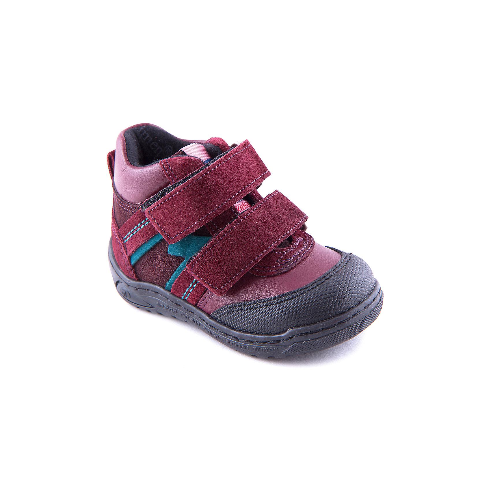 Ботинки для девочки MinimenСимпатичные демисезонные ботинки от популярной марки Minimen (Минимен)- незаменимая вещь в гардеробе каждой девочки. Ботинки из натуральной кожи пропускают воздух и позволяют ножке ребенка дышать. Ботинки имеют усиленные мыс и пятку, удобную застежку на двух липучках. Практичные и удобные ботинки на каждый день. <br><br>Дополнительная информация:<br><br>-Сезон: осень, весна<br>-Температурный режим: от 0? до + 10?<br>-Материал верха: натуральная кожа<br>-Материал подкладки: байка<br>-Стелька: байка<br>-Материал подошвы: резина<br>-Тип застежки: липучка<br><br>Ботинки для девочки Minimen (Минимен) можно купить в нашем магазине.<br><br>Ширина мм: 262<br>Глубина мм: 176<br>Высота мм: 97<br>Вес г: 427<br>Цвет: бордовый<br>Возраст от месяцев: 15<br>Возраст до месяцев: 18<br>Пол: Женский<br>Возраст: Детский<br>Размер: 23,36,24,34,25,26,27,28,29,30,20,31,21,32,22,33,35<br>SKU: 3741501