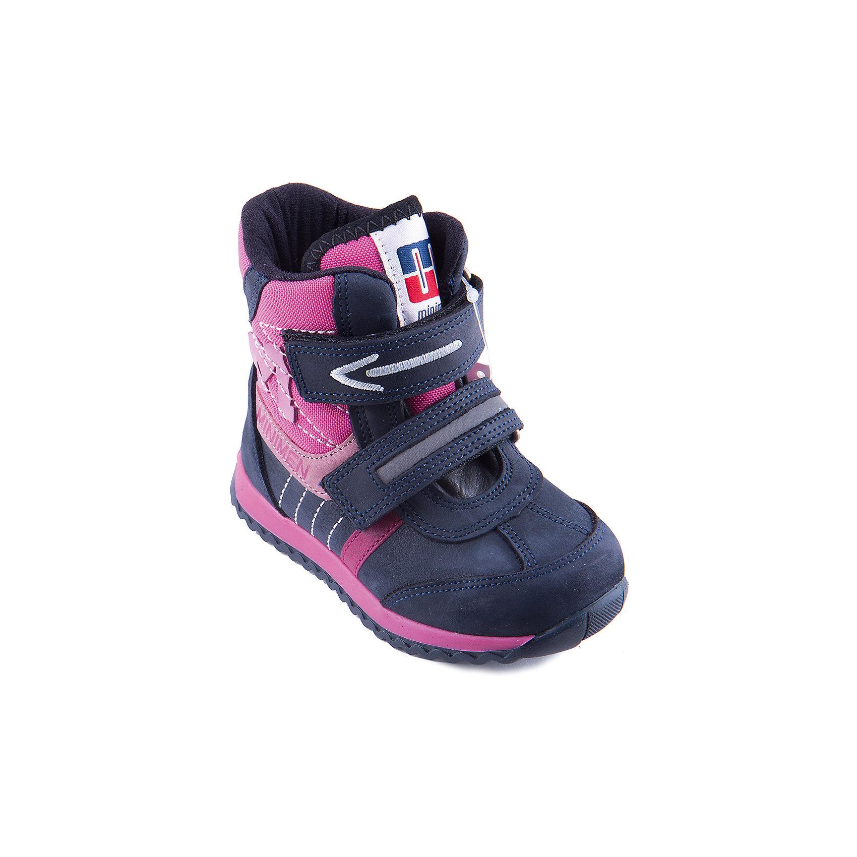 Полусапоги для девочки MinimenДемисезонные полусапожки для девочки от популярной марки Minimen (Минимен). Модель имеет специальные накладки на мыске и пятке, защищающие обувь и ногу ребенка от механических повреждений и воды. Укрепленный задник надежно фиксирует пятку. Противоскользящая подошва позволяет ребенку свободно двигаться и предотвращает падения. Полусапожки имеют оригинальный дизайн и обязательно понравятся маленькой моднице!<br><br>Дополнительная информация:<br><br>-Сезон: осень, весна, <br>-Температурный режим: от 0? до +10? <br>-Материал верха: натуральная кожа<br>-Материал подкладки: текстиль<br>-Стелька: байка<br>-Материал подошвы: резина<br>-Тип застежки: липучка.<br><br>Полусапожки для девочки Minimen (Минимен) можно купить в нашем магазине.<br><br>Ширина мм: 257<br>Глубина мм: 180<br>Высота мм: 130<br>Вес г: 420<br>Цвет: фуксия<br>Возраст от месяцев: 12<br>Возраст до месяцев: 15<br>Пол: Женский<br>Возраст: Детский<br>Размер: 21,25,28,30,22,23,24,20,29,27,26<br>SKU: 3741569
