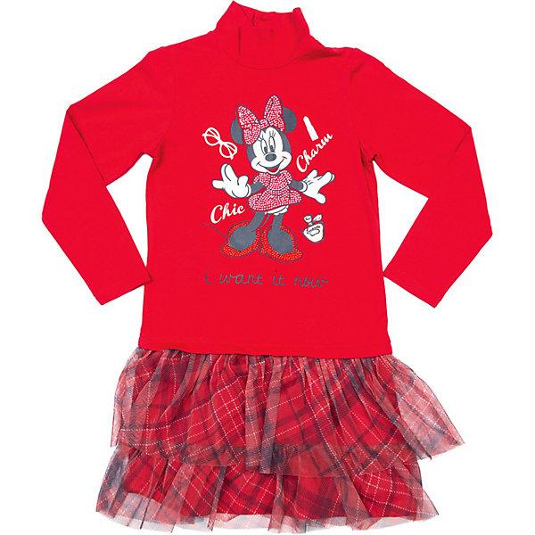 Платье PlayTodayПлатья и сарафаны<br>Платье PlayToday<br>* прекрасное трикотажное платье с изображением минни маус<br>* юбка платья, выполненная из сетки, придает пышность <br>* яркий принт минни маус усыпан стразами<br>Состав:<br>верхняя часть изделия: 95% хлопок, 5% эластан, верх юбки: 100% полиэстер, подкладка юбки: 95% хлопок, 5% эластан<br>Ширина мм: 236; Глубина мм: 16; Высота мм: 184; Вес г: 177; Цвет: синий/красный; Возраст от месяцев: 60; Возраст до месяцев: 72; Пол: Женский; Возраст: Детский; Размер: 116,128,98,110,122,104; SKU: 3742543;