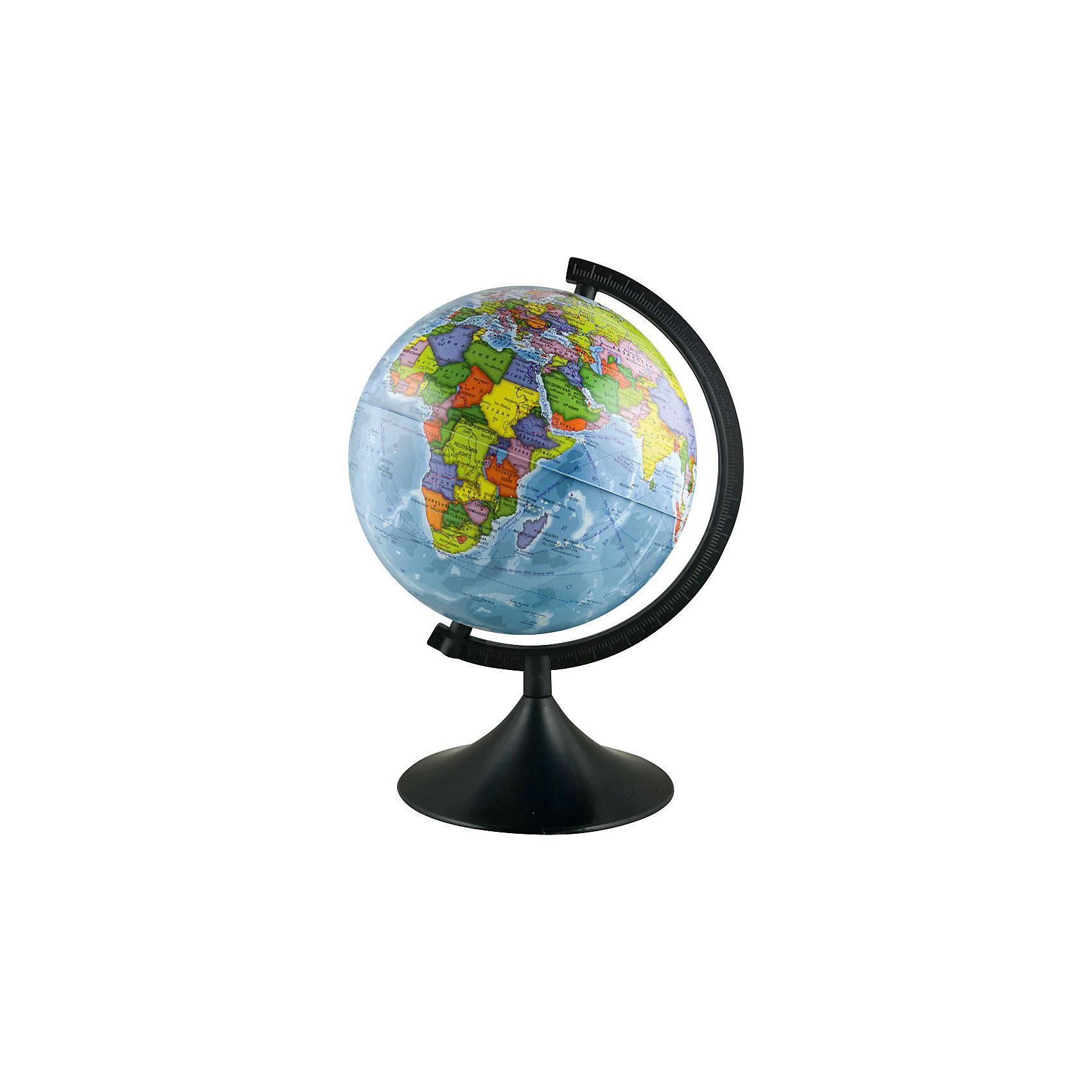Глобус Земли Политический, TUKZARГлобусы<br>Глобус Земли Политический, TUKZAR (ТУКЗАР) станет незаменимым атрибутом обучения ребенка.<br>Существует много способов, как придать учебе игровой настрой, заинтересовать и в то же время дать ребенку необходимые знания. Давнее изобретение, никогда не теряющее свою актуальность и значение - это модель нашей Земли. С глобусами смогут работать даже самые маленькие, они дают полет фантазии и интеллектуально развивают ребенка. Учиться с помощью политического глобуса, где указаны современные границы государств, названия географических объектов  - просто и легко. Настольный глобус на удобной подставке вращается вокруг собственной оси.<br><br>Дополнительная информация:<br><br>- Диаметр: 210 мм<br>- Масштаб: 1:60000000<br>- Покрытие: пластик<br>- Язык: русский<br>- Содержание: границы государств, названия стран, столиц и крупных городов<br><br>Глобус Земли Политический, TUKZAR (ТУКЗАР) можно купить в нашем интернет-магазине.<br><br>Ширина мм: 210<br>Глубина мм: 210<br>Высота мм: 210<br>Вес г: 500<br>Возраст от месяцев: 36<br>Возраст до месяцев: 144<br>Пол: Унисекс<br>Возраст: Детский<br>SKU: 3743887