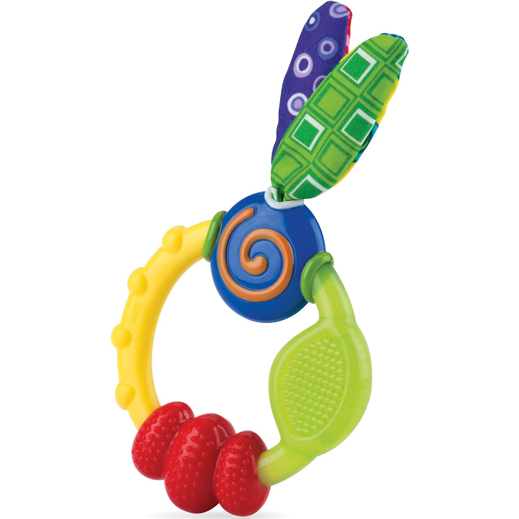 Игрушка-прорезыватель, NubyПрорезыватели для зубов<br>Яркая игрушка-прорезыватель, Nuby создана для самых маленьких и способствует развитию зрительного восприятия, кусательных и хватательных рефлексов, а также мелкой моторики рук.<br>Во время болезненного прорезывания зубов игрушка-прорезыватель, Nuby стимулирует и массирует десны и поможет успокоить малыша.<br><br>Дополнительная информация:<br><br>Материал: полипропилен<br>Не содержит Бисфенол А<br><br>Игрушку-прорезыватель, Nuby (Нуби) можно купить в нашем магазине.<br><br>Ширина мм: 154<br>Глубина мм: 114<br>Высота мм: 22<br>Вес г: 48<br>Цвет: mehrfarbig<br>Возраст от месяцев: 3<br>Возраст до месяцев: 18<br>Пол: Унисекс<br>Возраст: Детский<br>SKU: 3746304