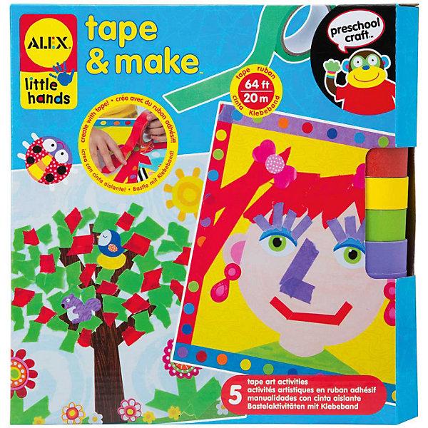 Аппликации из разноцветных лент, ALEXБумага<br>Аппликации из разноцветных лент,ALEX (Алекс) – это набор для создания 5-ти больших красочных аппликаций удивительным способом - из кусочков цветных лент на клейкой основе и из готовых стикеров. Разноцветные ленты можно разрезать и склеивать как угодно, проявляя фантазию! Ваш ребенок будет создавать картины по своему выбору и на свой вкус. <br>Набор развивает фантазию, мышление, мелкую моторику.<br><br>Дополнительная информация:<br><br>- В наборе: 5 картонных основ с забавными картинками, клейкая лента 4 ярких цветов в рулонах - всего 20 м, 126 стикеров<br>- Размер упаковки: 254х250х60 мм.<br>- Вес: 454 гр.<br><br>Набор «Аппликации из разноцветных лент», ALEX (Алекс) можно купить в нашем интернет-магазине.<br>Ширина мм: 254; Глубина мм: 250; Высота мм: 60; Вес г: 454; Возраст от месяцев: 36; Возраст до месяцев: 72; Пол: Унисекс; Возраст: Детский; SKU: 3747451;
