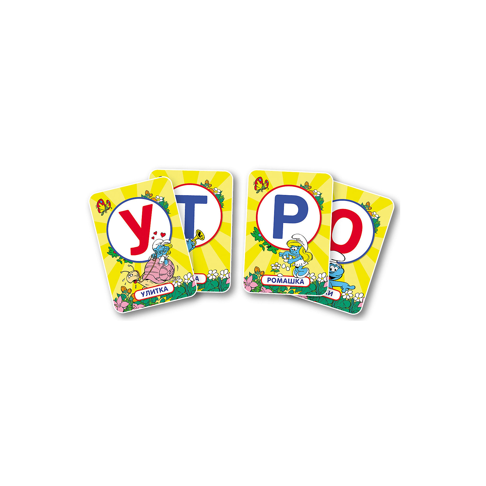 """Развивающие карточки """"Игры с буквами"""", Смурфики от myToys"""