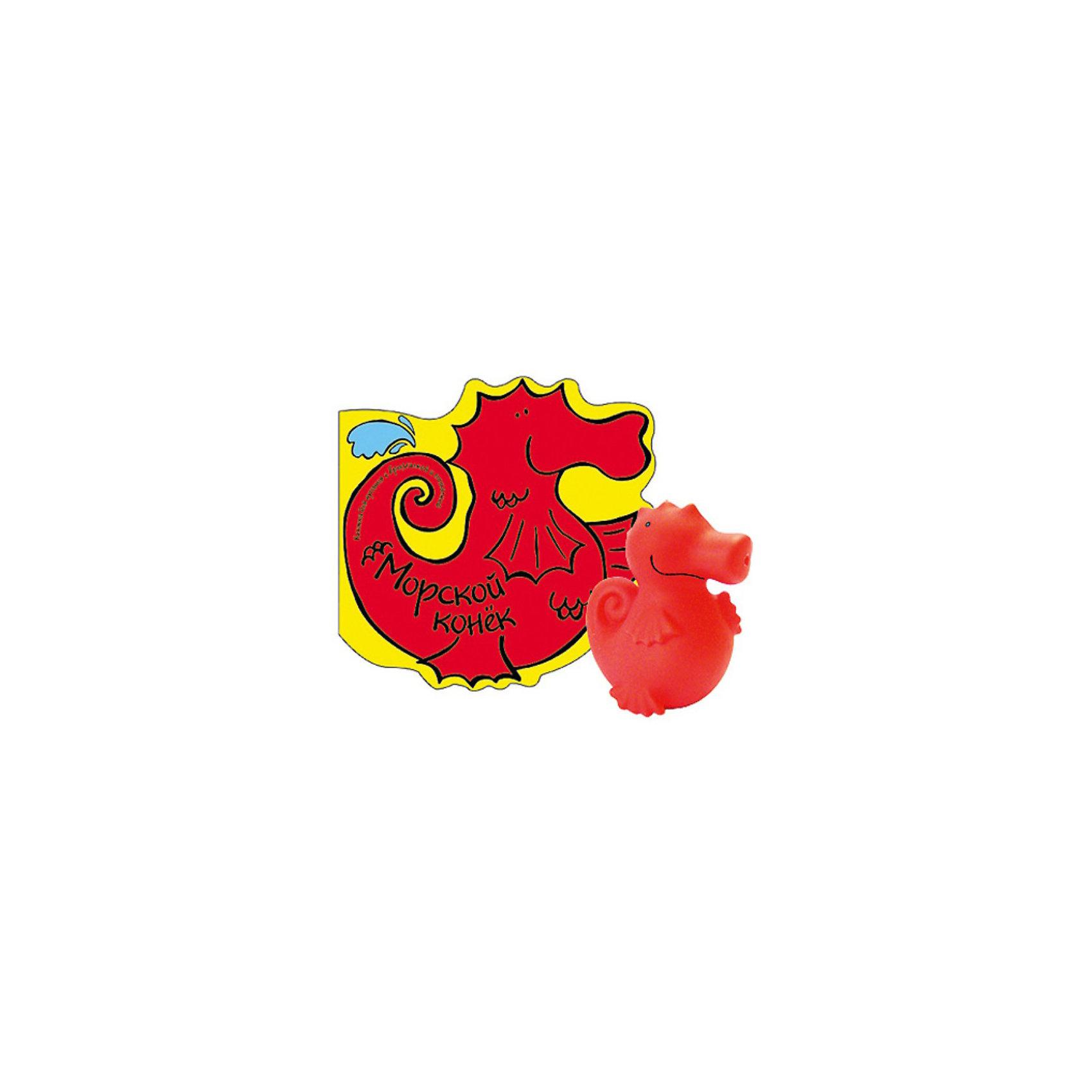 Книга для купания с игрушкой Морской конекКнижка для купания с игрушкой Морской конек, Мозаика-Синтез – эта мягкая, приятная на ощупь книжка, которая не промокает и забавно пищит.<br>С этой яркой книжкой можно играть даже во время купания! На ее мягких страничках нарисована история о морском коньке. А чтобы мама могла прочитать ее малышу, под рисунками есть текст. Во время игры в доступной форме расскажите ребенку о морских коньках и других морских обитателях. Рассматривайте вместе рисунки и обсуждайте их: задавайте малышу вопросы, просите показать ту или иную деталь картинки, загадывайте загадки. Книжка поможет малышу развить речь, зрительное и слуховое восприятие, тактильные ощущения, познакомит его с основными цветами. Красочные картинки сообщат ребенку новые знания об окружающем мире и подарят массу положительных эмоций. А веселое игровое чтение в раннем возрасте сформирует у малыша желание читать в будущем. Книжка сделана из непромокаемого и приятного на ощупь клеенчатого материала. В ней 4 листочка, в одном из которых спрятана звонкая пищалка. В комплект входит забавная игрушка-брызгалка в виде красного морского конька, которая пригодится для водных шалостей!<br><br>Дополнительная информация:<br><br>- В комплекте: книжка, игрушка-брызгалка<br>- Автор: Бурмистрова Лариса<br>- Художник: Кло Джулия<br>- Издательство: Мозаика-Синтез<br>- Серия: Книжки для купания<br>- Тип обложки: Blister<br>- Иллюстрации: цветные<br>- Страниц: 6 (ПВХ)<br>- Размеры: 210x150x70 мм.<br>- Вес: 72 гр.<br><br>Книжку для купания с игрушкой Морской конек, Мозаика-Синтез можно купить в нашем интернет-магазине.<br><br>Ширина мм: 210<br>Глубина мм: 150<br>Высота мм: 70<br>Вес г: 70<br>Возраст от месяцев: 0<br>Возраст до месяцев: 36<br>Пол: Унисекс<br>Возраст: Детский<br>SKU: 3756273
