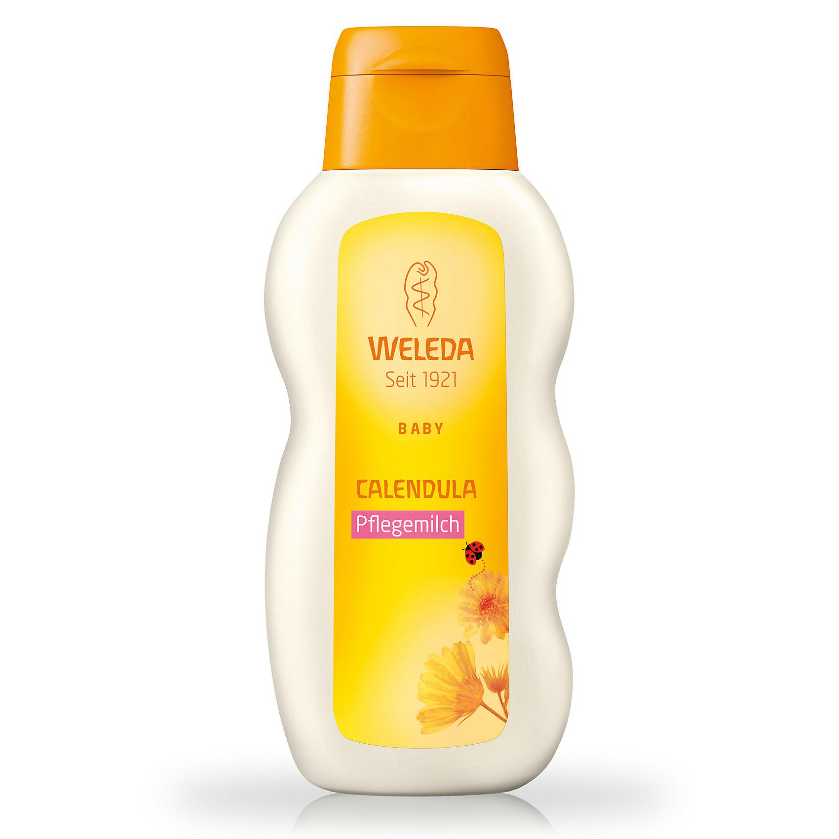 Молочко для тела с календулой для младенцев, 200 мл., WeledaМолочко для тела<br>Молочко для тела с календулой для младенцев, 200 мл., Weleda<br><br>Характеристики:<br><br>• Объем: 200 мл<br>• Содержит: календула, пчелиный воск<br>• Производитель: Weleda<br><br>Насыщенное молочко, содержит только тщательно подобранные и безопасные натуральные ингредиенты. Освежает, увлажняет, охлаждает и успокаивает чувствительную кожу ребенка. Эффективность подтверждена дерматологическими тестами. Содержит в составе пчелиный воск, что позволяет эффективно смягчать кожу и давать ей защиту. <br><br>Молочко для тела с календулой для младенцев, 200 мл., Weleda можно купить в нашем интернет-магазине.<br><br>Ширина мм: 171<br>Глубина мм: 73<br>Высота мм: 39<br>Вес г: 225<br>Возраст от месяцев: 0<br>Возраст до месяцев: 72<br>Пол: Унисекс<br>Возраст: Детский<br>SKU: 3756309