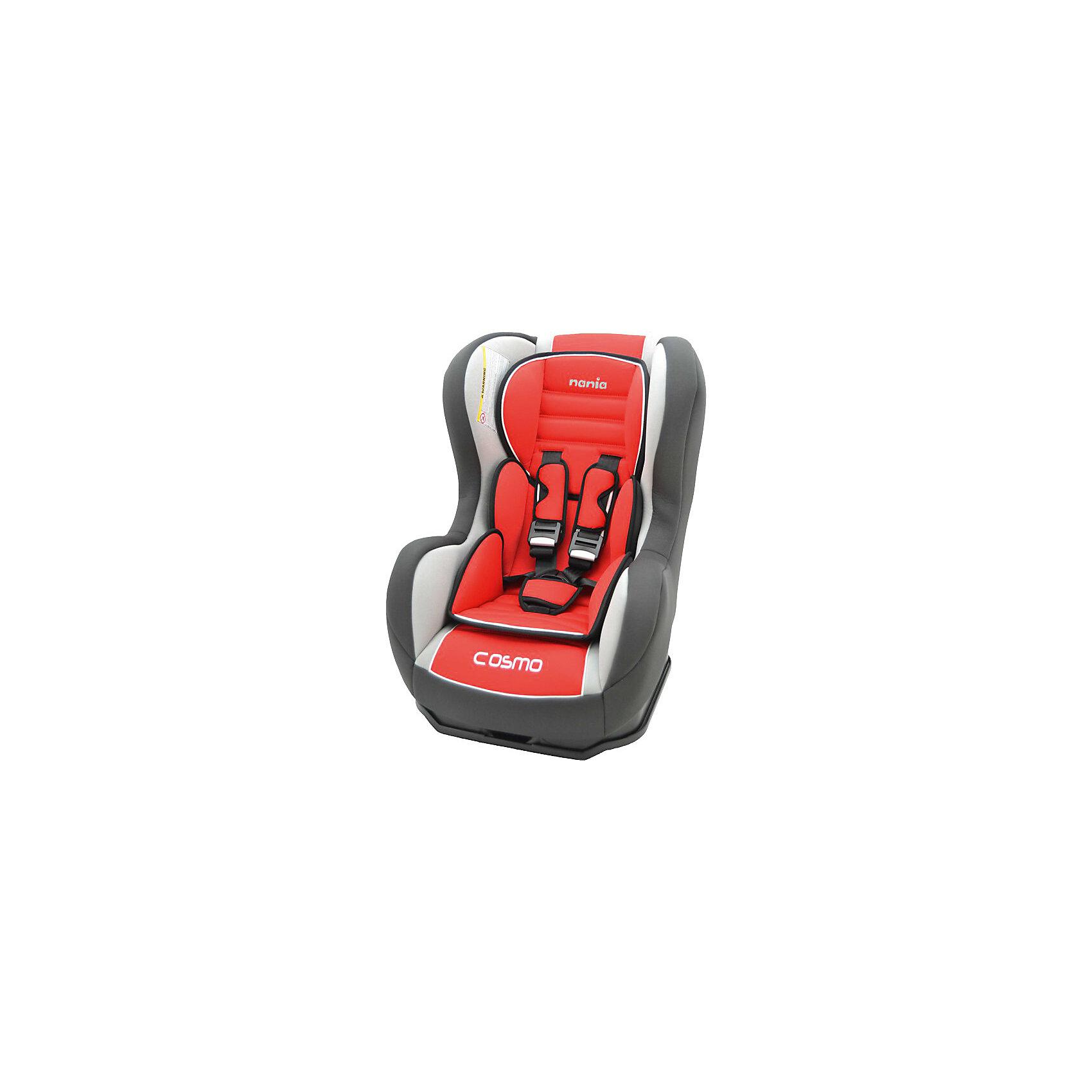 Автокресло Cosmo SP LX 0-18 кг., Nania, agora carminХарактеристики Nania Cosmo SP LX:<br><br>• группа 0+/1;<br>• вес ребенка: до 18 кг;<br>• возраст ребенка: от рождения до 4-х лет;<br>• способ установки: против хода (до 9 кг) и по ходу движения автомобиля (9-18кг);<br>• способ крепления: штатными ремнями безопасности автомобиля;<br>• 5-ти точечные ремни безопасности с мягкими накладками;<br>• угол наклона спинки регулируется: 5 положений, положение для сна;<br>• анатомический вкладыш для новорожденного, подголовник;<br>• дополнительная защита от боковых ударов, система SP (side protection);<br>• съемные чехлы, стирка при температуре 30 градусов;<br>• материал: пластик, полиэстер;<br>• стандарт безопасности: ЕСЕ R44/03.<br><br>Размер автокресла: 50x45x60 см<br>Размер сиденья: 33х31 см<br>Высота спинки: 55 см<br>Вес автокресла: 5,7 кг<br><br>Автокресло Nania Cosmo SP LX устанавливается как по ходу движения, так и против хода движения автомобиля, как на заднем сиденье автомобиля, так и на переднем сиденье автомобиля (с условием отключения подушки безопасности). Регулируемая спинка дает возможность малышу занять удобное положение, как во время сна, так и во время бодрствования. Автокресло соответствует всем стандартам безопасности. <br><br>Автокресло Cosmo SP LX 0-18 кг., Nania, agora carmin можно купить в нашем интернет-магазине.<br><br>Ширина мм: 660<br>Глубина мм: 455<br>Высота мм: 805<br>Вес г: 14910<br>Возраст от месяцев: 0<br>Возраст до месяцев: 48<br>Пол: Унисекс<br>Возраст: Детский<br>SKU: 3756333