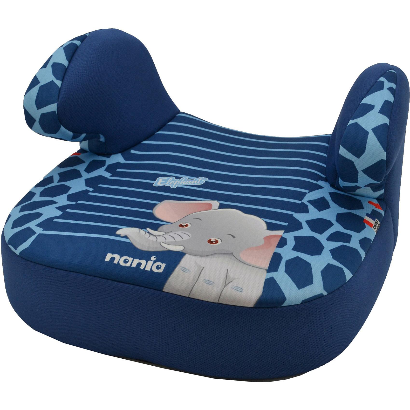 Автокресло-бустер Nania Dream, 15-36 кг, elephantБустеры<br>Автокресло-бустер Dream, 15-36 кг.,  Nania, elephant - комфортная и надежная модель, которая сделает поездку Вашего ребенка приятной и безопасной. Кресло представляет из себя бустер с сиденьем анатомической формы, мягким покрытием и удобными подлокотниками, которые обеспечивают ребенку комфорт во время путешествия. Прочный полипропиленовый каркас создает дополнительную безопасность.<br><br>Кресло устанавливается в салоне штатными 3-х точечными ремнями безопасности на заднем сиденье с краю или переднем сиденье лицом по ходу движения автомобиля. Кресло изготовлено из высококачественных материалов, тканевые чехлы снимаются для чистки или стирки. Рассчитано на детей от 4 лет до 12 лет, весом 15-36 кг.<br><br>Дополнительная информация:<br><br>- Цвет: elephant (синий/голубой, рисунок слон). <br>- Материал: полиэстер, пластик.<br>- Размер: 47 x 44 x 20 см.<br>- Вес: 3 кг.<br><br>Автокресло-бустер Dream, 15-36 кг.,  Nania, elephant можно купить в нашем интернет-магазине.<br><br>Ширина мм: 410<br>Глубина мм: 430<br>Высота мм: 260<br>Вес г: 6720<br>Возраст от месяцев: 36<br>Возраст до месяцев: 144<br>Пол: Унисекс<br>Возраст: Детский<br>SKU: 3756337