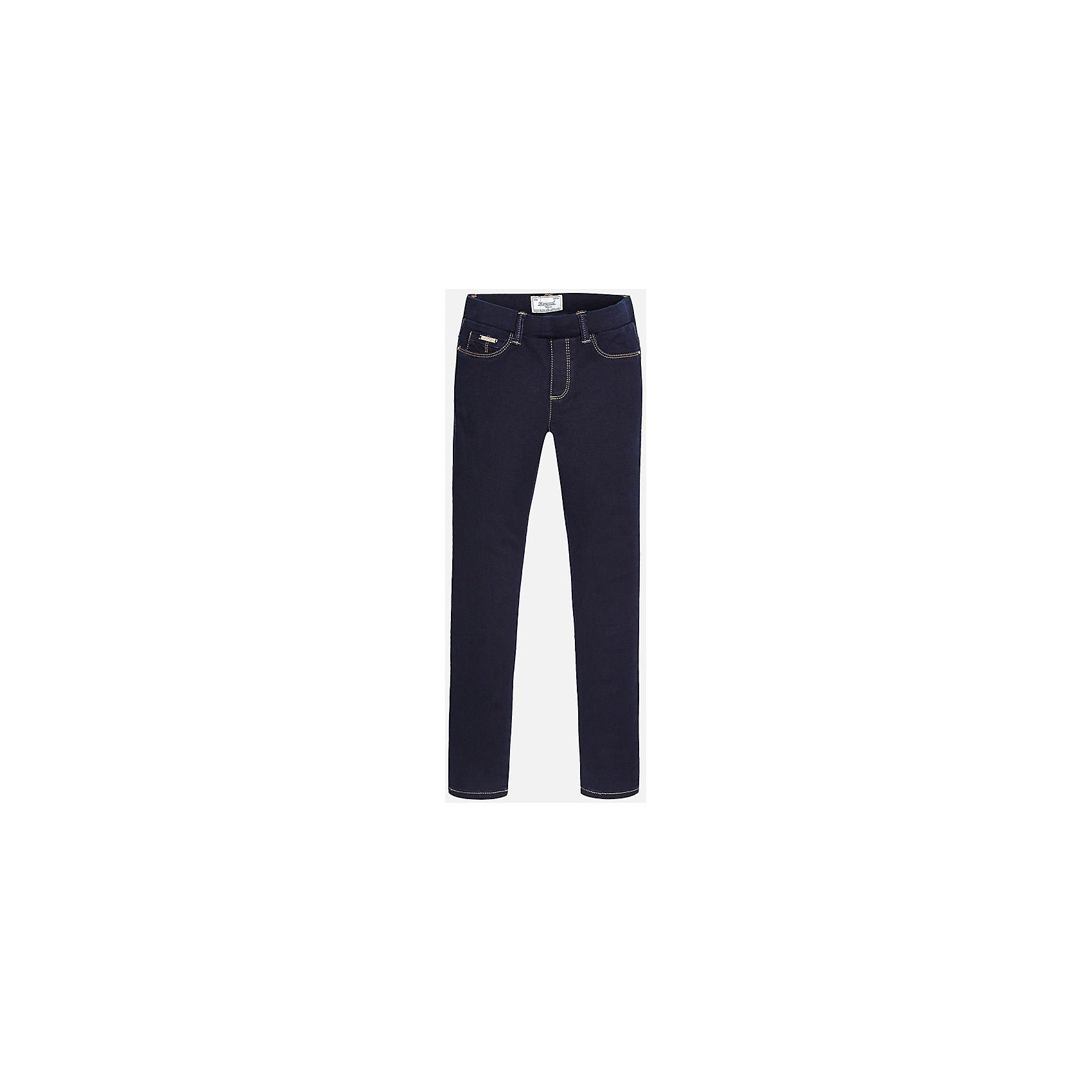 Леггинсы для девочки  MayoralМодные джинсовые леггинсы от популярного испанского бренда Mayoral (Майорал) для девочки. Изделие выполнено из высококачественного эластичного денима, приятного к телу, и обладает следующими особенностями:<br>- темно-синий цвет, потертости;<br>- регулируемый объем талии;<br>- эластичный пояс со шлевками для ремня;<br>- 3 кармана (1 впереди и 2 сзади) и 2 передних кармана-обманки;<br>- комфортный крой.<br><br>Состав: 68% хлопок, 30% полиэстер, 2% эластан<br><br>Леггинсы Mayoral (Майорал) можно купить в нашем магазине.<br><br>Ширина мм: 123<br>Глубина мм: 10<br>Высота мм: 149<br>Вес г: 209<br>Цвет: синий<br>Возраст от месяцев: 132<br>Возраст до месяцев: 144<br>Пол: Женский<br>Возраст: Детский<br>Размер: 158,158/164,146/152,128/134,134/140,164/170<br>SKU: 3758118