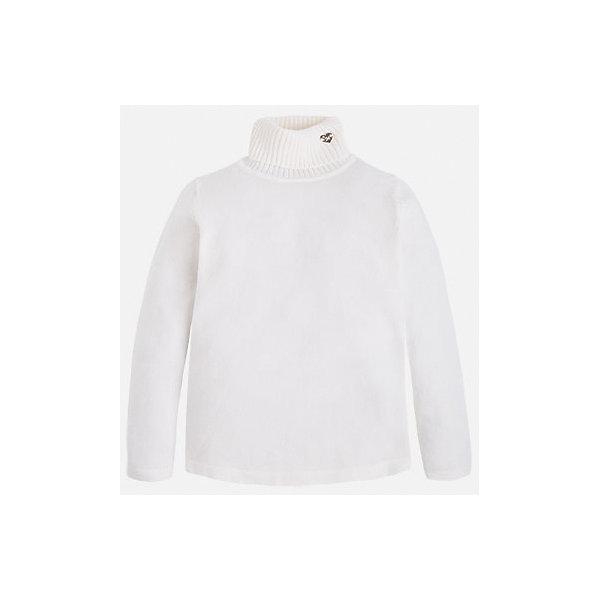 Водолазка для девочки MayoralВодолазки<br>Нежная водолазка от известного испанского бренда Mayoral (Майорал) для девочки. Изделие выполнено из невероятно мягкого, приятного к телу эластичного материала и обладает следующими особенностями:<br>- приглушенно-розовый цвет, стильная аппликация из желтого металла с небольшим стразом;<br>- воротник-гольф;<br>- комфортный крой.<br><br>Состав: 80% хлопок, 17% полиамид, 3% эластан<br><br>Водолазку Mayoral (Майорал) можно купить в нашем магазине<br><br>Ширина мм: 199<br>Глубина мм: 10<br>Высота мм: 161<br>Вес г: 151<br>Цвет: белый<br>Возраст от месяцев: 36<br>Возраст до месяцев: 48<br>Пол: Женский<br>Возраст: Детский<br>Размер: 104,134,122,116,110,98,128,92<br>SKU: 3758258