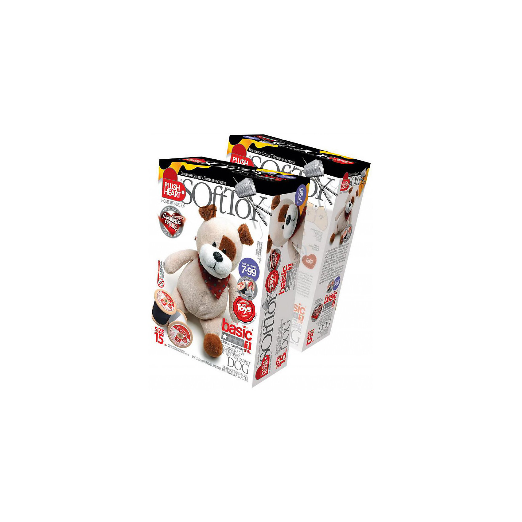 Собачка, Plush heartСобачка Plush heart, Фантазер - увлекательный набор для творчества, который позволит Вашему ребенку создать своими руками оригинальную мягкую игрушку. В комплекте Вы найдете все готовые детали кроя, которые надо сшить, согласно инструкции. Синтепоновая набивка и пластмассовые гранулы придадут игрушке объем и устойчивость, а плюшевое сердце оживит ее. Результатом творчества станет симпатичная милая собачка, которая обязательно порадует Вашего ребенка. В комплект также входит дополнительный аксессуар - бандана, которой можно украсить игрушку.<br><br>Дополнительная информация:<br><br>- В комплекте: пошитая голова игрушки, руки и ноги, детали кроя туловища, синтепоновая набивка, капроновый мешочек с полигранулами и Плюшевое сердце.<br>- Материал: 100% полиэстер.<br>- Размер готовой игрушки: 15 см.<br>- Размер упаковки: 15 х 22,5 х 7 см. <br>- Вес: 0,2 кг.<br><br>Набор для творчества Собачка, Plush heart, Фантазер можно купить в нашем интернет-магазине.<br><br>Ширина мм: 225<br>Глубина мм: 70<br>Высота мм: 150<br>Вес г: 120<br>Возраст от месяцев: 72<br>Возраст до месяцев: 120<br>Пол: Унисекс<br>Возраст: Детский<br>SKU: 3759830