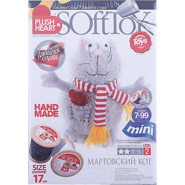 Кот мартовский, Plush heartШитьё<br>Кот мартовский Plush heart, Фантазер - увлекательный набор для творчества, который позволит Вашему ребенку создать своими руками оригинальную мягкую игрушку. В комплекте Вы найдете все готовые детали кроя, которые надо сшить, согласно инструкции. Синтепоновая набивка и пластмассовые гранулы придадут игрушке объем и устойчивость, а плюшевое сердце оживит ее. Результатом творчества станет симпатичный забавный кот, который обязательно порадует Вашего ребенка. В комплект также входит дополнительный аксессуар - полосатый шарфик, которым можно украсить игрушку.<br><br>Дополнительная информация:<br><br>- В комплекте: пошитая голова игрушки, 4 лапы, хвост, 4 детали туловища, шарфик, накладной карман, синтепоновая набивка, мешочек с полигранулами, нитки и Плюшевое  сердце.<br>- Материал: 100% полиэстер.<br>- Размер готовой игрушки: 17 см.<br>- Размер упаковки: 15 х 22,5 х 7 см. <br>- Вес: 0,2 кг.<br><br>Набор для творчества Кот мартовский, Plush heart, Фантазер можно купить в нашем интернет-магазине.<br><br>Ширина мм: 225<br>Глубина мм: 70<br>Высота мм: 150<br>Вес г: 150<br>Возраст от месяцев: 72<br>Возраст до месяцев: 120<br>Пол: Унисекс<br>Возраст: Детский<br>SKU: 3759831
