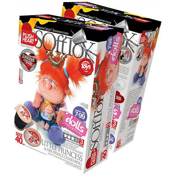 Маленькая принцесса, Plush heartШитьё<br>Маленькая принцесса Plush heart, Фантазер - увлекательный набор для творчества, который позволит Вашему ребенку создать своими руками оригинальную мягкую игрушку. В комплекте Вы найдете все готовые детали кроя, которые надо сшить, согласно инструкции. Синтепоновая набивка и пластмассовые гранулы придадут игрушке объем и устойчивость, а плюшевое сердце оживит ее. Результатом творчества станет симпатичная куколка-принцесса с задорными рыжими хвостиками, которая обязательно порадует Вашего ребенка. В комплект также входит дополнительный аксессуар - куколка Принц для маленькой принцессы.<br><br>Набор имеет третий (высокий) уровень сложности и рассчитан на детей, уже имеющих опыт шитья и рукоделия.<br><br>Дополнительная информация:<br><br>- В комплекте: пошитая голова игрушки, руки и ноги, детали кроя туловища, синтепоновая набивка, Принц, одежда, корона, капроновый мешочек с полигранулами и Плюшевое  сердце.<br>- Материал: 100% полиэстер.<br>- Размер готовой игрушки: 40 см.<br>- Размер упаковки: 15 х 22,5 х 7 см. <br>- Вес: 0,5 кг.<br><br>Набор для творчества Маленькая принцесса, Plush heart, Фантазер можно купить в нашем интернет-магазине.<br>Ширина мм: 280; Глубина мм: 190; Высота мм: 90; Вес г: 300; Возраст от месяцев: 72; Возраст до месяцев: 120; Пол: Унисекс; Возраст: Детский; SKU: 3759832;