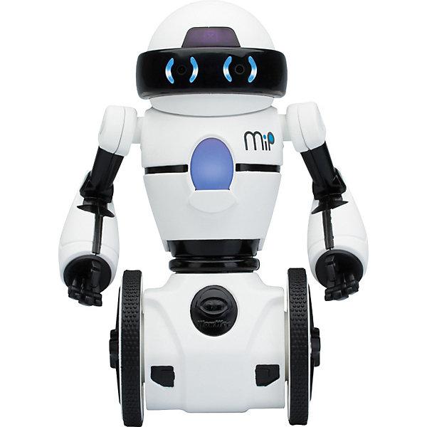 Робот MIP 0821, белый,  WowWeeРоботы-игрушки<br>Мечта любого ребенка - настоящий робот, который может двигаться и выполнять команды. Робот MIP 0821, от WowWee - многофункциональный робот на самостабилизирующейся двухколесной платформе, выполненной по технологии обратного маятника. Ориентируясь на ваши движения и жесты, этот робот будет виртуозно переносить на подносе различные вещи и издавать различные звуки. Игрушка управляется жестами или с помощью смартфона. Робот ориентируется в пространстве, реагирует на препятствия, танцует под музыку. С помощью приложения вы сможете менять настроение робота (весёлый, сонный, злой), можете попробовать сыграть в интерактивные игры с несколькими MIP и поменять самые разные настройки, нарисуйте пальцем на экране вашего смартфона путь робота, и он его повторит.<br><br>Дополнительная информация:<br><br>- Материал: пластик, металл.<br>- Высота: 20 см.<br>- Цвет: белый.<br>- Робот на самостабилизирующейся двухколесной платформе.<br>- Умеет танцевать, переносить вещи на подносе.<br>- Реагирует на препятствия.<br>- Изучает пространство.<br>- Пытается выбраться из замкнутого пространства (режим клетка).<br>- Управление с мобильного устройства (iOS или Android)<br>- Элемент питания: для робота - 4 батарейки ААА (не входят в комплект).<br>- Звуковые эффекты.<br>- Комплектация: робот,  инструкция.<br><br>Робота MIP 0821, белого,  WowWee можно купить в нашем магазине.<br><br>Ширина мм: 267<br>Глубина мм: 172<br>Высота мм: 175<br>Вес г: 820<br>Возраст от месяцев: 96<br>Возраст до месяцев: 168<br>Пол: Мужской<br>Возраст: Детский<br>SKU: 3763611