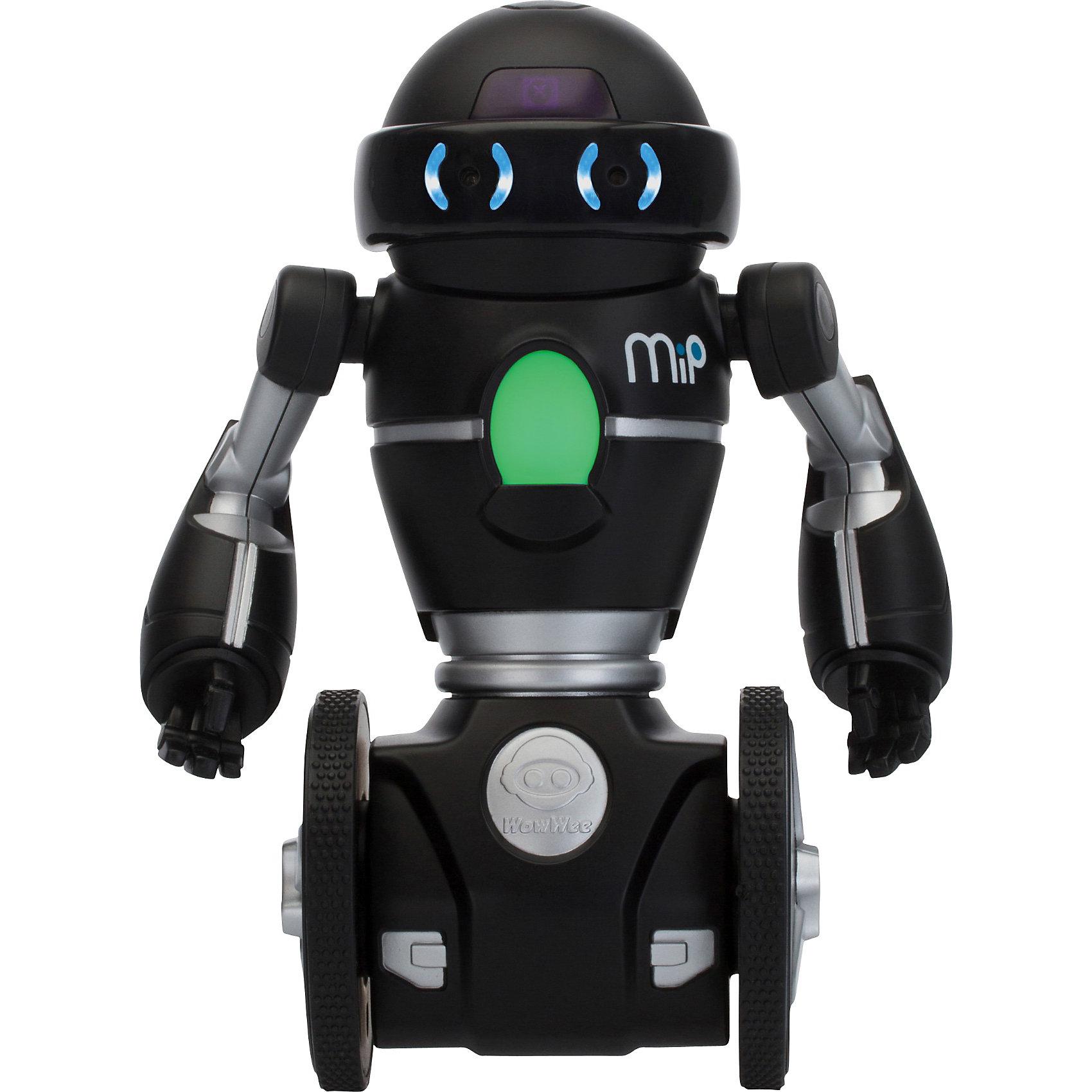 Робот MIP 0825, черный,  WowWeeМечта любого ребенка - настоящий робот, который может двигаться и выполнять команды. Робот MIP 0821, от WowWee - многофункциональный робот на самостабилизирующейся двухколесной платформе, выполненной по технологии обратного маятника. Ориентируясь на ваши движения и жесты, этот робот будет виртуозно переносить на подносе различные вещи и издавать различные звуки. Игрушка управляется жестами или с помощью смартфона. Робот ориентируется в пространстве, реагирует на препятствия, танцует под музыку. С помощью приложения вы сможете менять настроение робота (весёлый, сонный, злой), можете попробовать сыграть в интерактивные игры с несколькими MIP и поменять самые разные настройки, нарисуйте пальцем на экране вашего смартфона путь робота, а он его повторит.<br><br>Дополнительная информация:<br><br>- Материал: пластик, металл.<br>- Высота: 20 см.<br>- Цвет: черный.<br>- Робот на самостабилизирующейся двухколесной платформе.<br>- Умеет танцевать, переносить вещи на подносе.<br>- Реагирует на препятствия.<br>- Изучает пространство.<br>- Пытается выбраться из замкнутого пространства (режим клетка).<br>- Управление с мобильного устройства (iOS или Android)<br>- Элемент питания: для робота - 4 батарейки ААА (не входят в комплект).<br>- Звуковые эффекты.<br>- Комплектация: робот,  инструкция.<br><br>Робота MIP 0825, черного,  WowWee можно купить в нашем магазине.<br><br>Ширина мм: 261<br>Глубина мм: 167<br>Высота мм: 134<br>Вес г: 813<br>Возраст от месяцев: 96<br>Возраст до месяцев: 168<br>Пол: Мужской<br>Возраст: Детский<br>SKU: 3763612