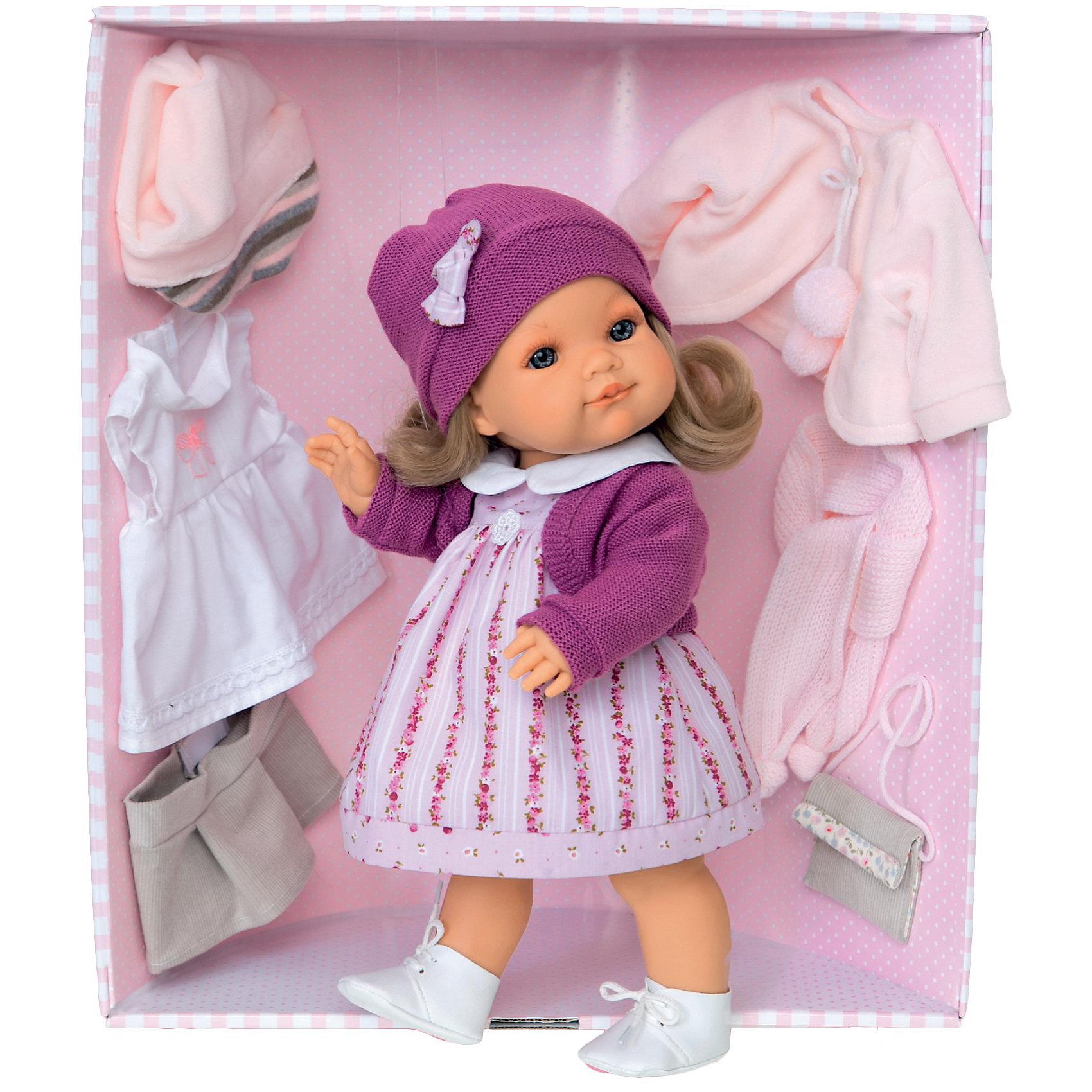 Кукла Ирма в фиолетовом, 38 см, Munecas Antonio Juan