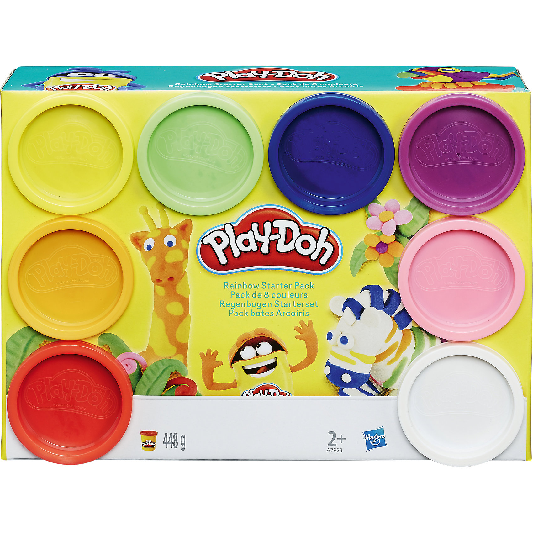 Hasbro Набор 8 банок пластилина, Play-Doh play doh набор для лепки магазинчик печенья play doh