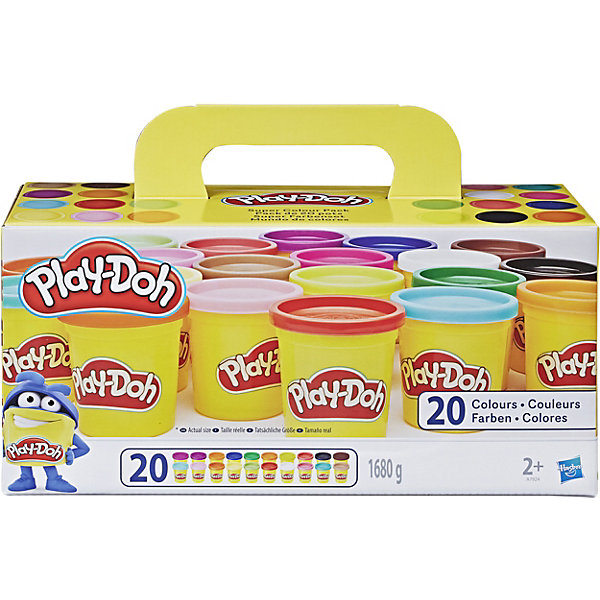 Набор пластилина из 20 баночек, Play-Doh
