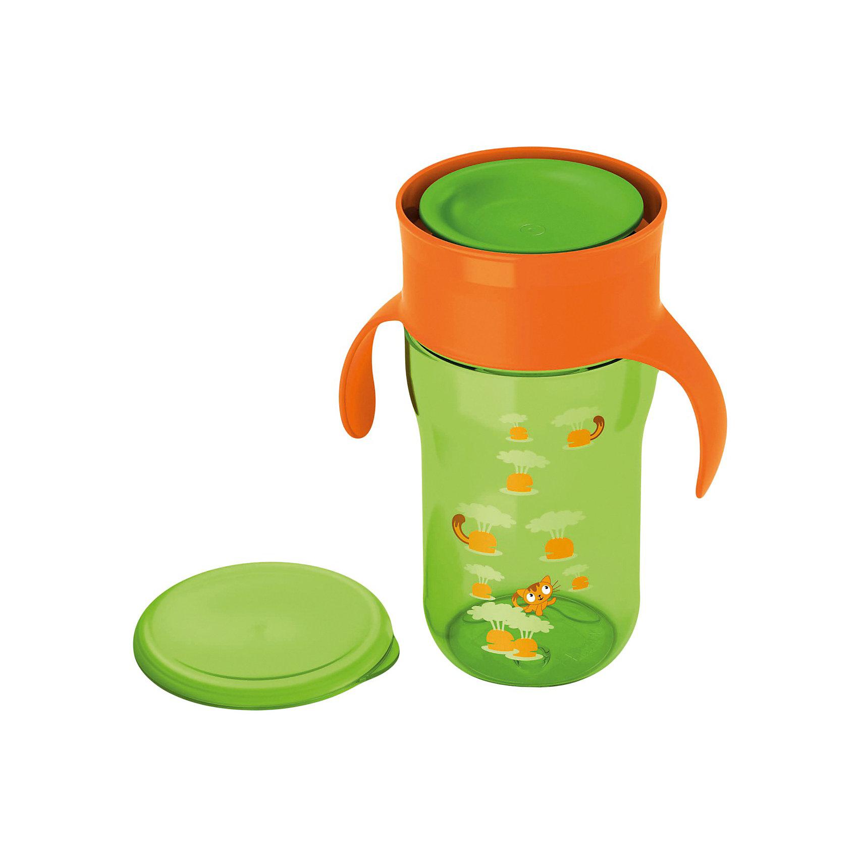 Поильник-чашка 340 мл., AVENT, зелёныйПоильники<br>Поильник-чашка Philips-Avent (Авент) идеально подойдет для малышей, которые учатся пить из чашки и уже могут самостоятельно держать кружку в руках. Из поильника можно пить как из стандартной взрослой чашки по всему краю, без носика и трубочки. Чашка оснащена специальным клапаном, который открывается при прикосновении губ ребенка, обеспечивает быстрый поток жидкости и предотвращает протекание и проливание. Ребенку приходится прилагать меньше усилий, что делает кормление более комфортным.<br><br>Обучающие ручки приучают малыша держать чашку и пить без посторонней помощи. Защитная гигиеническая крышка предохранит чашку от загрязнений и сохранит в чистоте во время прогулок и дома. Чашка имеет яркий, привлекательный для малыша дизайн с забавными рисунками. Можно стерилизовать и мыть в посудомоечной машине.<br><br>Дополнительная информация:<br><br>- Цвет: зеленый.<br>- Материал: пластик.<br>- Объем: 340 мл.<br>- Возраст: от 18 мес.<br>- Размер: 9 х 11,6 х 19 см.<br>- Вес: 180 гр.<br><br>Чашку, Avent (Авент), 340 мл., зелёную можно купить в нашем магазине.<br><br>Ширина мм: 90<br>Глубина мм: 116<br>Высота мм: 190<br>Вес г: 161<br>Цвет: зеленый<br>Возраст от месяцев: 18<br>Возраст до месяцев: 36<br>Пол: Унисекс<br>Возраст: Детский<br>SKU: 3770432