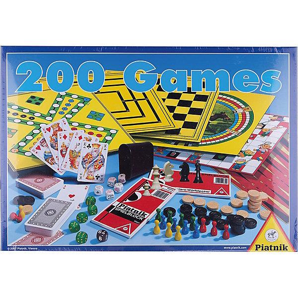200 игр + шахматы, PiatnikСпортивные настольные игры<br>200 игр + шахматы, Piatnik  – это набор настольных игр для всех членов семьи, который позволит приятно провести свободное время.<br>Игровой набор 200 игр+шахматы предлагает выбрать ту игру, которая придется по душе именно Вам. 200 вариантов игр на любой вкус удовлетворят требования самых строгих игроманов. Множество элементов в наборе, качественное исполнение, подробные и понятные правила – все это делает набор очень популярным среди любителей настольных игр. Играть можно дома, в гостях, в дороге, на природе. Выбирайте, в какую игру хотите поиграть – и вперед! А играть можно в игры с игровыми полями или без них, с кубиками, с фишками, с шашками. Этот набор позволяет даже сыграть партию в шахматы. Инструкция поможет сориентироваться в предложенном многообразии игр. С таким игровым набором досуг пройдет весело и непринужденно<br><br>Дополнительная информация:<br><br>- Для детей от 6 лет и старше<br>- Количество игроков: от 2 и более человек<br>- Среднее время игры: 15 минут<br>- В комплекте: игровое поле – 3 шт., фишки – 16 шт., шашки белые – 15 шт., шашки черные – 15 шт., блок для записи Eskalero и Yatze, шахматные фигуры – 32 шт., игральный кубик – 5 шт., двойной кубик – 1шт., игральные карты – 2 колоды, стакан для игры с кубиками – 1 шт., правила игры<br>- Упаковка: картонная коробка<br>- Размер упаковки: 41 х 30 х 6 см.<br>- Вес: 1270 гр.<br><br>Набор 200 игр + шахматы, Piatnik можно купить в нашем интернет-магазине.<br><br>Ширина мм: 40<br>Глубина мм: 410<br>Высота мм: 300<br>Вес г: 1270<br>Возраст от месяцев: 72<br>Возраст до месяцев: 1188<br>Пол: Унисекс<br>Возраст: Детский<br>SKU: 3770911