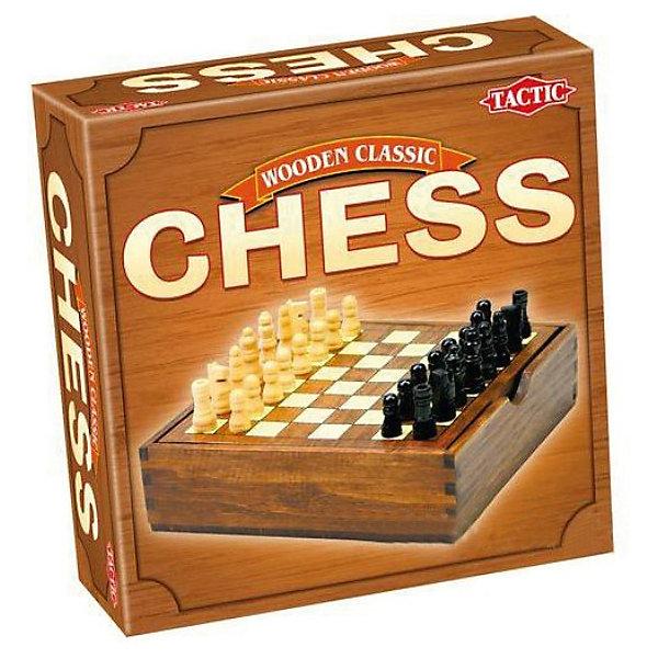 Мини Шахматы, Tactic GamesСпортивные настольные игры<br>Мини Шахматы, Tactic Games – эта настольная игра будет прекрасным подарком для любителей шахмат.<br>Настольная игра Шахматы (мини) предназначена для разновозрастной аудитории. В нее могут играть как взрослые, так и любящие интеллектуальные игры дети. Правила игры такие же, как и при игре в классические шахматы. Уменьшенное игровое поле и небольшой размер фигур позволяют брать Мини-шахматы куда угодно. Короб из дерева, который одновременно является и игровой доской, без труда поместится в любую дорожную сумку и не займет много места.<br><br>Дополнительная информация:<br><br>- В комплекте: 32 деревянных фигуры (16 черных и 16 белых), шахматная доска, правила игры<br>- Размер упаковки: 16,5 х 16,5 х 5 см.<br>- Вес: 433 гр.<br><br>Мини Шахматы, Tactic Games можно купить в нашем интернет-магазине.<br><br>Ширина мм: 62<br>Глубина мм: 168<br>Высота мм: 168<br>Вес г: 433<br>Возраст от месяцев: 96<br>Возраст до месяцев: 1188<br>Пол: Унисекс<br>Возраст: Детский<br>SKU: 3770919