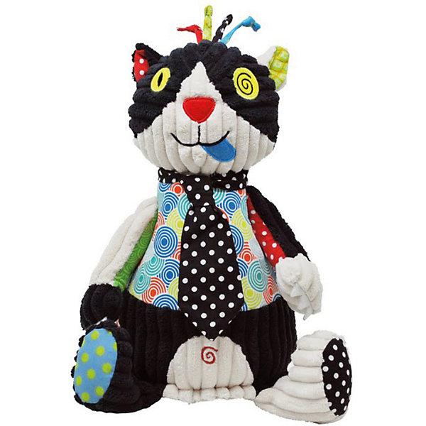 Игрушка Котик Charlos, DeglingosМягкие игрушки животные<br>Эксклюзивная игрушка Котик Charlos, Deglingos - лучший подарок не только детям, но и взрослым.<br>Мягкая дизайнерская игрушка Кот Charlos с элементами ручной вышивки сразу покорит сердце вашего малыша! Все детали на котике вышиты. Кот Charlos завоевывает симпатию экстравагантным и необычным видом. Игрушка порадует ее обладателя ручной работой, высоким уровнем исполнения и достойным выбором первоклассных материалов, взятых для ее изготовления.<br><br>Дополнительная информация:<br><br>- Материалы: велюр, вельвет, ситец, драп, мешковина<br>- Наполнитель: полиэстер<br>- Лапы котика вращаются<br>- Высота котика: 27 см.<br><br>Игрушку Котик Charlos, Deglingos можно купить в нашем интернет-магазине.<br>Ширина мм: 120; Глубина мм: 120; Высота мм: 350; Вес г: 230; Возраст от месяцев: 24; Возраст до месяцев: 120; Пол: Унисекс; Возраст: Детский; SKU: 3771799;