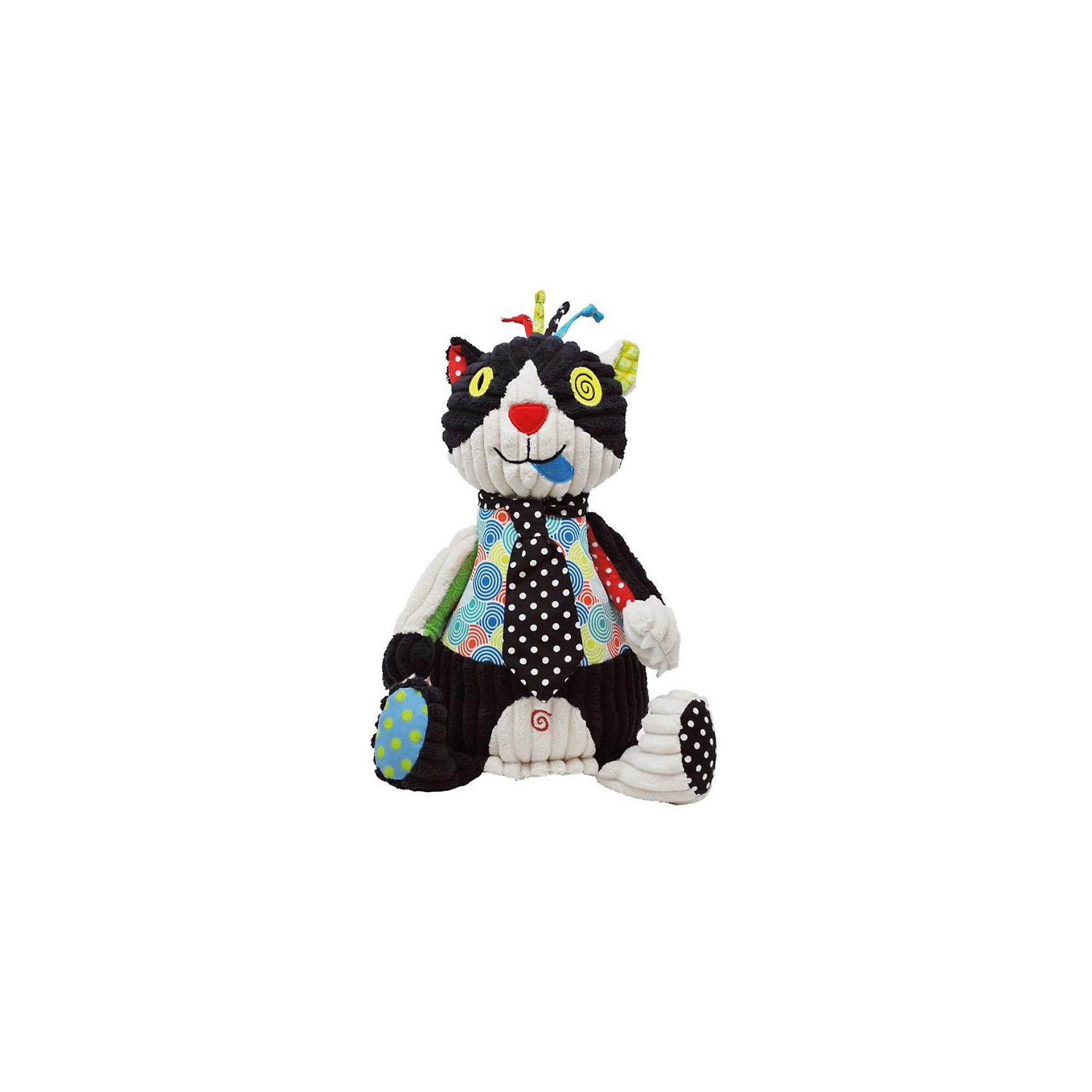 Игрушка Котик Charlos, DeglingosКошки и собаки<br>Эксклюзивная игрушка Котик Charlos, Deglingos - лучший подарок не только детям, но и взрослым.<br>Мягкая дизайнерская игрушка Кот Charlos с элементами ручной вышивки сразу покорит сердце вашего малыша! Все детали на котике вышиты. Кот Charlos завоевывает симпатию экстравагантным и необычным видом. Игрушка порадует ее обладателя ручной работой, высоким уровнем исполнения и достойным выбором первоклассных материалов, взятых для ее изготовления.<br><br>Дополнительная информация:<br><br>- Материалы: велюр, вельвет, ситец, драп, мешковина<br>- Наполнитель: полиэстер<br>- Лапы котика вращаются<br>- Высота котика: 27 см.<br><br>Игрушку Котик Charlos, Deglingos можно купить в нашем интернет-магазине.<br><br>Ширина мм: 120<br>Глубина мм: 120<br>Высота мм: 350<br>Вес г: 230<br>Возраст от месяцев: 24<br>Возраст до месяцев: 120<br>Пол: Унисекс<br>Возраст: Детский<br>SKU: 3771799