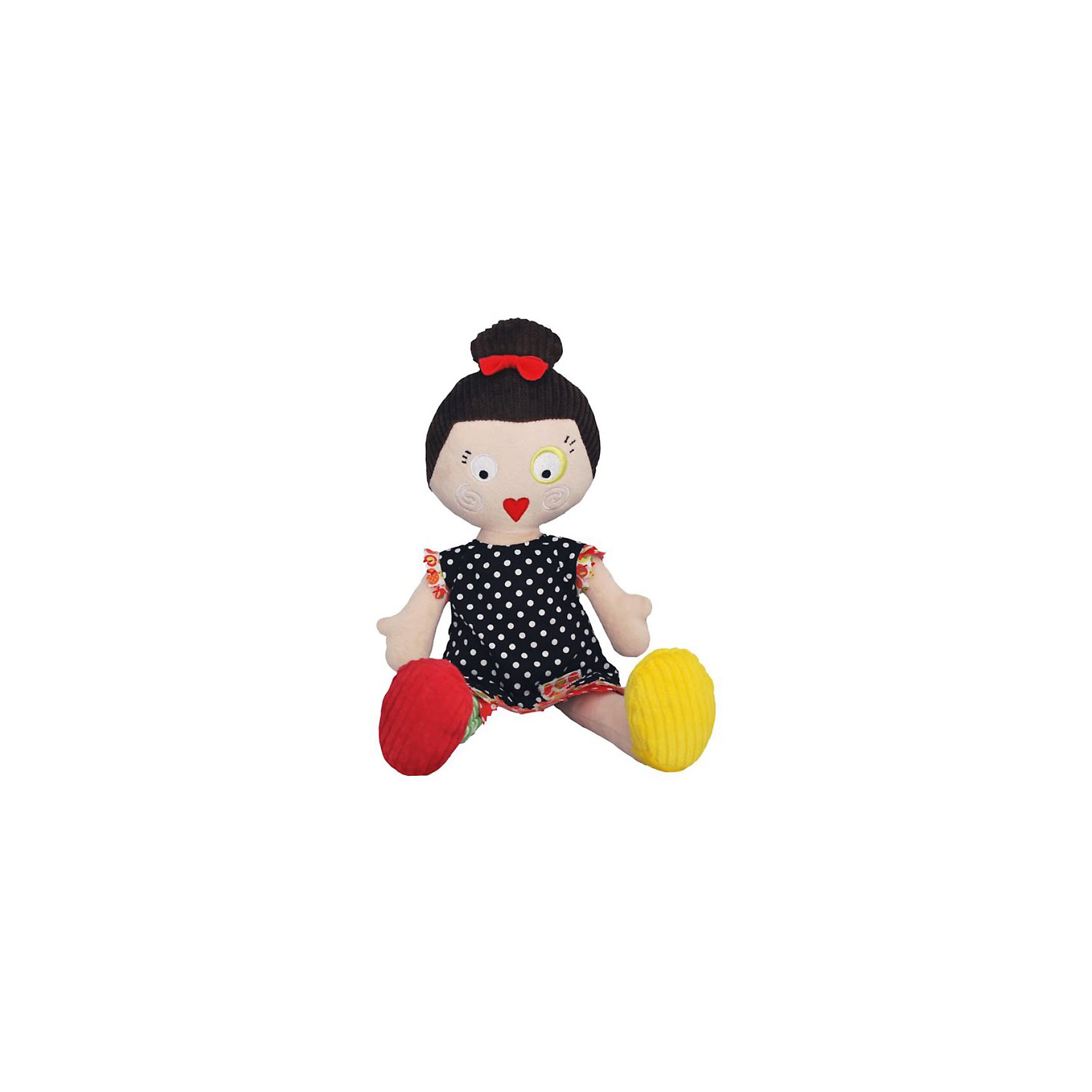 Кукла Mistinguette Lucette, DeglingosМягкая дизайнерская кукла Lucette (Люсетт) Deglingos с элементами ручной вышивки сразу покорит сердце вашей малышки! Люсетт завоевывает симпатию, экстравагантным и необычным видом. Люсетт располагает к себе, вызывает улыбку, радость, с ней хочется играть снова и снова. Она настоящая парижанка и имеет нее свой неповторимый стиль. Игрушка порадует ее обладателя ручной работой, высоким уровнем исполнения и достойным выбором первоклассных материалов, взятых для ее изготовления.<br>Мягкой необычной кукле будет рад и ребенок, у которого появится новая подружка, и взрослый, который порадуется оригинальному подарку.<br><br>Дополнительная информация:<br><br>- Все детали куклы вышиты вручную.<br>- Материалы: велюр, вельвет, ситец, драп, мешковина.<br>- Наполнитель: полиэстер<br>- Высота куклы: 34 см.<br>- Размер упаковки: 10х15х23 см.<br>- Вес: 600 гр.<br><br>Куклу Mistinguette Lucette, Deglingos можно купить в нашем интернет-магазине.<br><br>Ширина мм: 100<br>Глубина мм: 150<br>Высота мм: 230<br>Вес г: 600<br>Возраст от месяцев: 36<br>Возраст до месяцев: 120<br>Пол: Женский<br>Возраст: Детский<br>SKU: 3771804