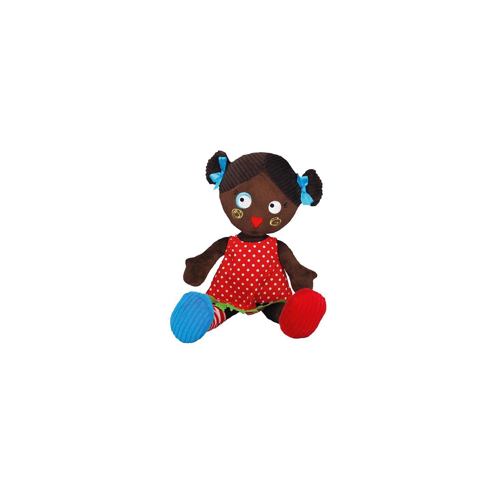 Кукла Mistinguette Paulette, DeglingosМягкая дизайнерская кукла Paulette (Полетт) Deglingos с элементами ручной вышивки сразу покорит сердце вашей малышки!  Полетт располагает к себе, вызывает улыбку и радость, с ней хочется играть снова и снова.  Чернокожая Полетт покорит Вас своим  экстравагантным и необычным видом. Полетт настоящая парижанка, у нее свой неповторимый стиль. <br>Игрушка порадует ее обладателя ручной работой, высоким уровнем исполнения и достойным выбором первоклассных материалов, взятых для ее изготовления.<br>Мягкой необычной кукле будет рад и ребенок, у которого появится новая подружка, и взрослый, который порадуется оригинальному подарку.<br><br>Дополнительная информация:<br><br>- Все детали куклы вышиты вручную.<br>- Материалы: велюр, вельвет, ситец, драп, мешковина.<br>- Наполнитель: полиэстер<br>- Высота куклы: 34 см.<br>- Упакована в яркую подарочную коробку<br>- Размер упаковки: 10х15х23 см.<br>- Вес: 600 гр.<br><br>Куклу Mistinguette Paulette, Deglingos можно купить в нашем интернет-магазине.<br><br>Ширина мм: 100<br>Глубина мм: 150<br>Высота мм: 230<br>Вес г: 360<br>Возраст от месяцев: 36<br>Возраст до месяцев: 120<br>Пол: Женский<br>Возраст: Детский<br>SKU: 3771805