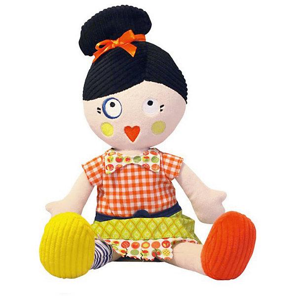 Кукла Mistinguette Henriette, DeglingosDeglingos<br>Мягкая дизайнерская кукла Henriette (Генриетта) Deglingos с элементами ручной вышивки сразу покорит сердце вашей малышки! В игрушке использованы высококачественные  материалы: велюр, вельвет, ситец, драп, мешковина. Все детали куклы вышиты вручную. Кукла Генриетта завоевывает симпатию, экстравагантным и необычным видом. Генриетта настоящая парижанка, у нее свой неповторимый стиль. Игрушка порадует ее обладателя ручной работой, высоким уровнем исполнения и достойным выбором первоклассных материалов, взятых для ее изготовления.<br>Мягкой необычной кукле будет рад и ребенок, у которого появится новая подружка, и взрослый, который порадуется оригинальному подарку.<br><br>Дополнительная информация:<br><br>- Все детали куклы вышиты вручную.<br>- Материалы: велюр, вельвет, ситец, драп, мешковина.<br>- Наполнитель: полиэстер<br>- Высота куклы: 34 см.<br>- Упакована в яркую подарочную коробку<br>- Размер упаковки: 10х15х23 см.<br>- Вес: 600 гр.<br><br>Куклу Mistinguette Henriette, Deglingos можно купить в нашем интернет-магазине.<br>Ширина мм: 100; Глубина мм: 150; Высота мм: 230; Вес г: 600; Возраст от месяцев: 36; Возраст до месяцев: 120; Пол: Женский; Возраст: Детский; SKU: 3771806;