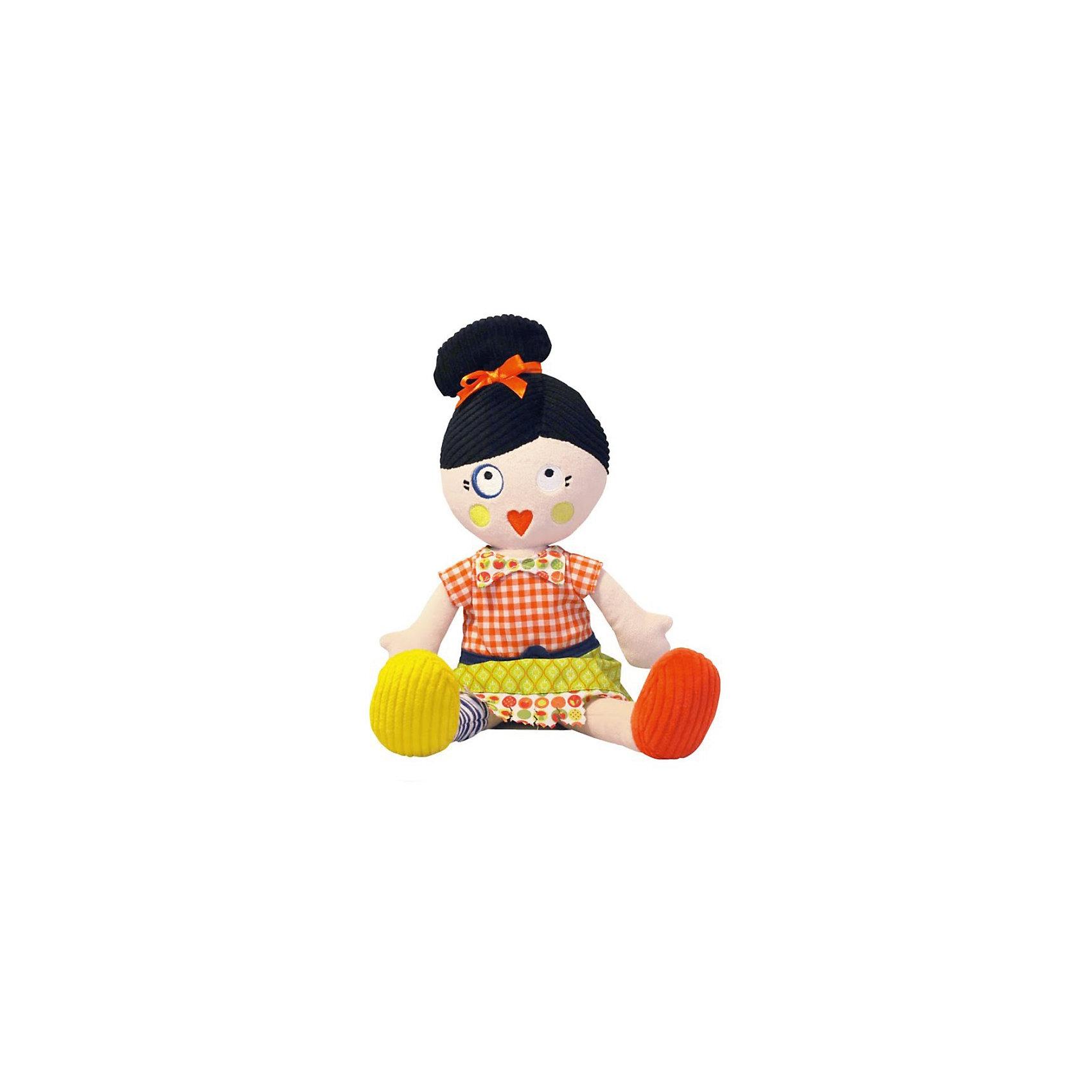 Кукла Mistinguette Henriette, DeglingosМягкая дизайнерская кукла Henriette (Генриетта) Deglingos с элементами ручной вышивки сразу покорит сердце вашей малышки! В игрушке использованы высококачественные  материалы: велюр, вельвет, ситец, драп, мешковина. Все детали куклы вышиты вручную. Кукла Генриетта завоевывает симпатию, экстравагантным и необычным видом. Генриетта настоящая парижанка, у нее свой неповторимый стиль. Игрушка порадует ее обладателя ручной работой, высоким уровнем исполнения и достойным выбором первоклассных материалов, взятых для ее изготовления.<br>Мягкой необычной кукле будет рад и ребенок, у которого появится новая подружка, и взрослый, который порадуется оригинальному подарку.<br><br>Дополнительная информация:<br><br>- Все детали куклы вышиты вручную.<br>- Материалы: велюр, вельвет, ситец, драп, мешковина.<br>- Наполнитель: полиэстер<br>- Высота куклы: 34 см.<br>- Упакована в яркую подарочную коробку<br>- Размер упаковки: 10х15х23 см.<br>- Вес: 600 гр.<br><br>Куклу Mistinguette Henriette, Deglingos можно купить в нашем интернет-магазине.<br><br>Ширина мм: 100<br>Глубина мм: 150<br>Высота мм: 230<br>Вес г: 600<br>Возраст от месяцев: 36<br>Возраст до месяцев: 120<br>Пол: Женский<br>Возраст: Детский<br>SKU: 3771806