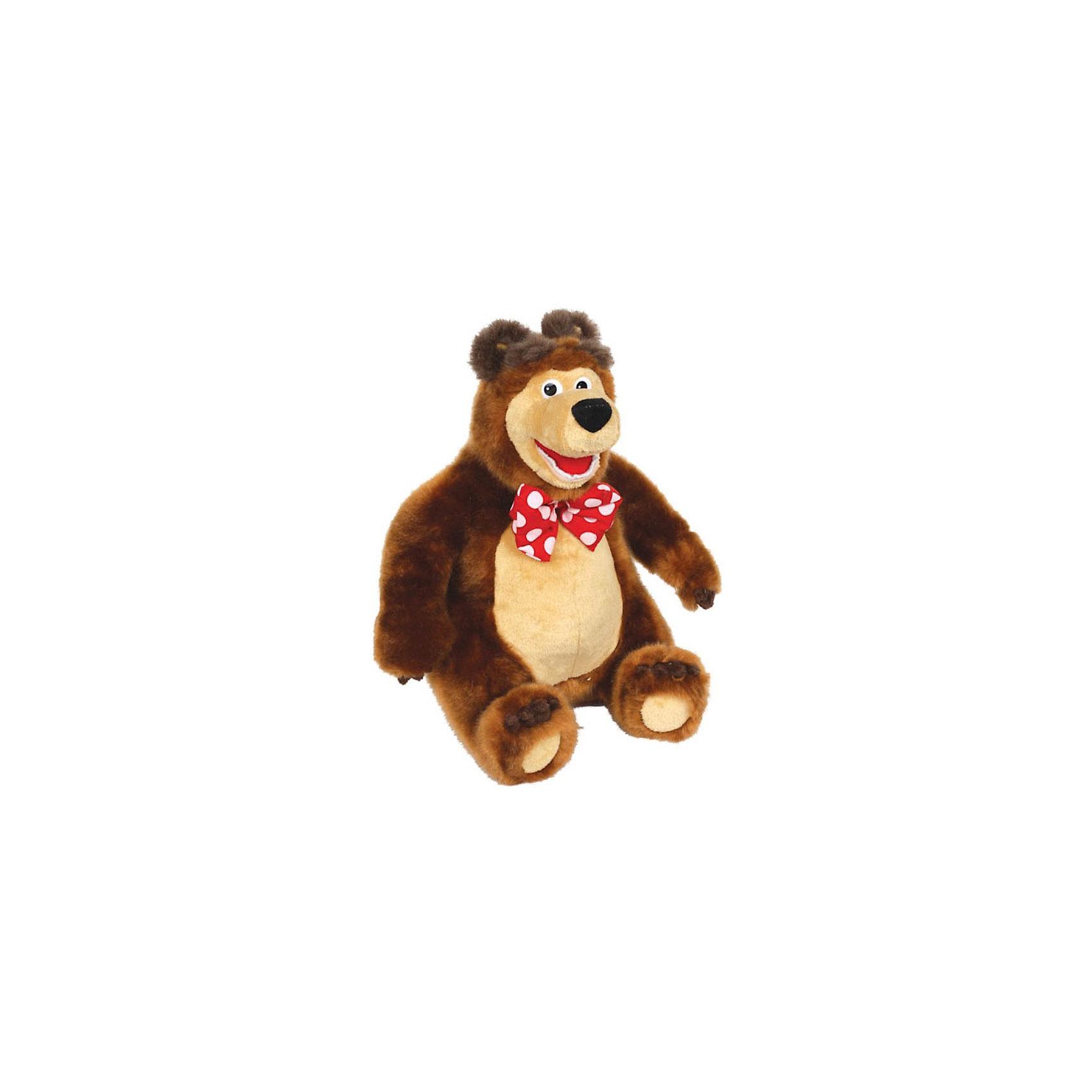 Мягкая игрушка Мишка, Маша и Медведь, МУЛЬТИ-ПУЛЬТИЛюбимые герои<br>Забавный Мишка из популярного мультфильма Маша и Медведь умеет двигаться и рассказывает 3 сказки: Маша и Медведь, Вершки и корешки, Три медведя. Чтобы Мишка ожил нужно лишь нажать ему на левую лапку, на правой задней лапке имеется регулятор громкости.<br><br>Дополнительная информация:<br><br>- Материал: искусственный мех, текстиль, набивка: полиэфирное волокно.<br>- Требуются батарейки: 3 х АА. (входят в комплект) <br>- Размер игрушки: 17 ? 23,5 ? 14 см.<br>- Размер упаковки: 17,5 ? 33 ? 18 см.<br>- Вес: 1,170 кг.<br><br>Мягкую игрушку Мишка, Маша и Медведь, Мульти-Пульти можно купить в нашем интернет-магазине.<br><br>Ширина мм: 180<br>Глубина мм: 170<br>Высота мм: 320<br>Вес г: 1170<br>Возраст от месяцев: 6<br>Возраст до месяцев: 60<br>Пол: Унисекс<br>Возраст: Детский<br>SKU: 3772334