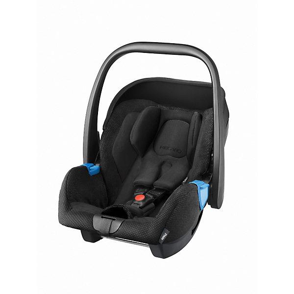 Автокресло RECARO Privia, 0-13 кг, blackГруппа 0+  (до 13 кг)<br>Характеристики:<br><br>• группа автокресла: 0+;<br>• вес ребенка: до 13 кг;<br>• возраст ребенка: от рождения до 15 месяцев;<br>• способ установки: лицом против хода движения автомобиля;<br>• способ крепления: штатными ремнями безопасности или на базу RecaroFix (база приобретается отдельно);<br>• 3-х точечные ремни безопасности, регулируются по длине;<br>• вкладыш для новорожденного;<br>• регулируемый капюшон;<br>• пластиковая ручка для переноски;<br>• съемные чехлы автокресла, стирка при температуре 30 градусов;<br>• материал: пластик, полиэстер;<br>• размеры автокресла: 65х44х57 см;<br>• вес: 3,7 кг.<br><br>Автокресло Privia – полноценная автолюлька для путешествий с новорожденным. Ручка для переноски дает возможность извлечь автокресло из салона автомобиля даже со спящим малышом, не потревожив его сон. Автокресло устанавливается на шасси различных колясок с помощью адаптеров.<br><br>Автокресло Privia 0-13 кг., Recaro, black можно купить в нашем интернет-магазине.<br>Ширина мм: 749; Глубина мм: 418; Высота мм: 441; Вес г: 6423; Цвет: черный; Возраст от месяцев: 0; Возраст до месяцев: 12; Пол: Унисекс; Возраст: Детский; SKU: 3773466;