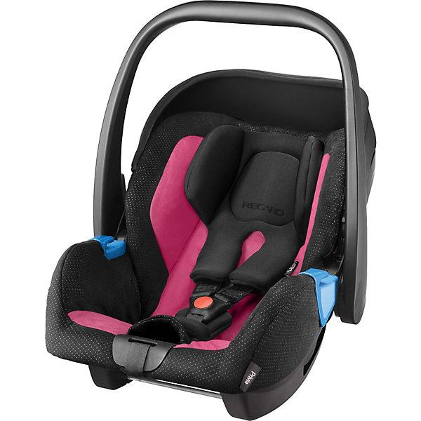 Автокресло RECARO Privia, 0-13 кг, pinkГруппа 0+  (до 13 кг)<br>Одна из важнейших задач родителей - обеспечить ребенку безопасность во время поездок на автомобиле. Современные технологии помогают это сделать достаточно легко. Пример тому: автокресло-переноска Privia от бренда Recaro.<br>Кресло рассчитано на самых маленьких. Даже новорожденным оно обеспечит комфорт передвижения благодаря подушке и специально разработанным для малышей ремням безопасности. В автокресле есть усиленная защита от боковых ударов, оно хорошо зарекомендовало себя на краш-тестах. Кресло стильно выглядит, его легко чистить благодаря съемному чехлу. Подарите удобство себе и детям!<br><br>Дополнительная информация:<br><br>цвет: черный, розовый;<br>материал: пластик, текстиль;<br>вес ребенка: от 0 до 13 кг;<br>можно использовать как качалку;<br>фиксация ремнем машины;<br>устанавливается против движения;<br>вес: 3700 г;<br>3-точечные ремни безопасности;<br>ручка;<br>усиленная защита от боковых ударов;<br>чехол снимается;<br>анатомическая подушка;<br>размеры: 65 х 57 х 44 см.<br><br>Автокресло Privia,  0-13 кг, от компании Recaro можно купить в нашем магазине.<br>Ширина мм: 740; Глубина мм: 465; Высота мм: 410; Вес г: 6417; Цвет: черный/розовый; Возраст от месяцев: 0; Возраст до месяцев: 15; Пол: Женский; Возраст: Детский; SKU: 3773470;