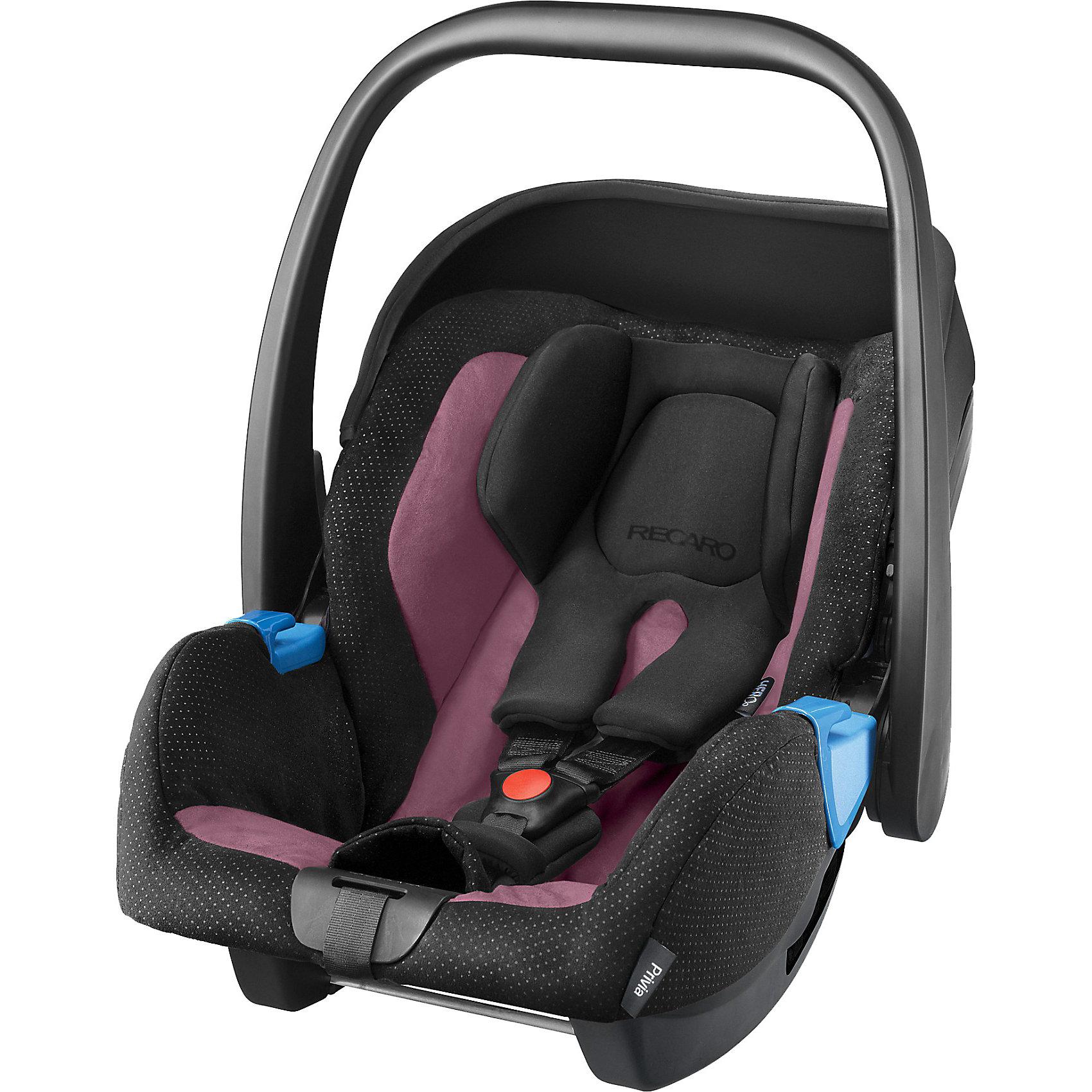 Автокресло RECARO Privia, 0-13 кг, violetГруппа 0+ (До 13 кг)<br>Одна из важнейших задач родителей - обеспечить ребенку безопасность во время поездок на автомобиле. Современные технологии помогают это сделать достаточно легко. Пример тому: автокресло-переноска Privia от бренда Recaro.<br>Кресло рассчитано на самых маленьких. Даже новорожденным оно обеспечит комфорт передвижения благодаря подушке и специально разработанным для малышей ремням безопасности. В автокресле есть усиленная защита от боковых ударов, оно хорошо зарекомендовало себя на краш-тестах. Кресло стильно выглядит, его легко чистить благодаря съемному чехлу. Подарите удобство себе и детям!<br><br>Дополнительная информация:<br><br>цвет: черный, фиолетовый;<br>материал: пластик, текстиль;<br>вес ребенка: от 0 до 13 кг;<br>можно использовать как качалку;<br>фиксация ремнем машины;<br>устанавливается против движения;<br>вес: 3700 г;<br>3-точечные ремни безопасности;<br>ручка;<br>усиленная защита от боковых ударов;<br>чехол снимается;<br>анатомическая подушка;<br>размеры: 65 х 57 х 44 см.<br><br>Автокресло Privia,  0-13 кг, от компании Recaro можно купить в нашем магазине.<br><br>Ширина мм: 750<br>Глубина мм: 480<br>Высота мм: 420<br>Вес г: 6490<br>Цвет: schwarz/lila<br>Возраст от месяцев: 0<br>Возраст до месяцев: 15<br>Пол: Женский<br>Возраст: Детский<br>SKU: 3773473