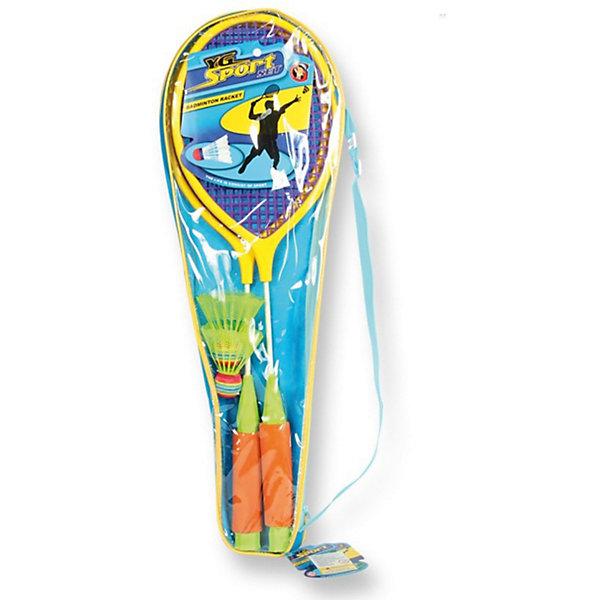 Набор для бадминтонаИгровые наборы<br>Набор для бадминтона – любительский набор для игры в бадминтон, который обязательно понравится юному спортсмену.<br>Набор для бадминтона прекрасно подойдет для крытых залов или скрасит Ваш досуг на отдыхе на природе, будь то шашлыки на даче или поход на пляж в жаркий летний день. Набор удобен для транспортировки, так как не занимает много места.<br><br>Дополнительная информация:<br><br>- В наборе: ракетки 2 шт., мяч, воланчик<br>- Упаковка: блистер<br>- Размер упаковки: 20х3х64 см.<br>- Вес: 251 гр.<br><br>Набор для бадминтона можно купить в нашем интернет-магазине.<br>Ширина мм: 205; Глубина мм: 30; Высота мм: 640; Вес г: 251; Возраст от месяцев: 36; Возраст до месяцев: 72; Пол: Унисекс; Возраст: Детский; SKU: 3774143;