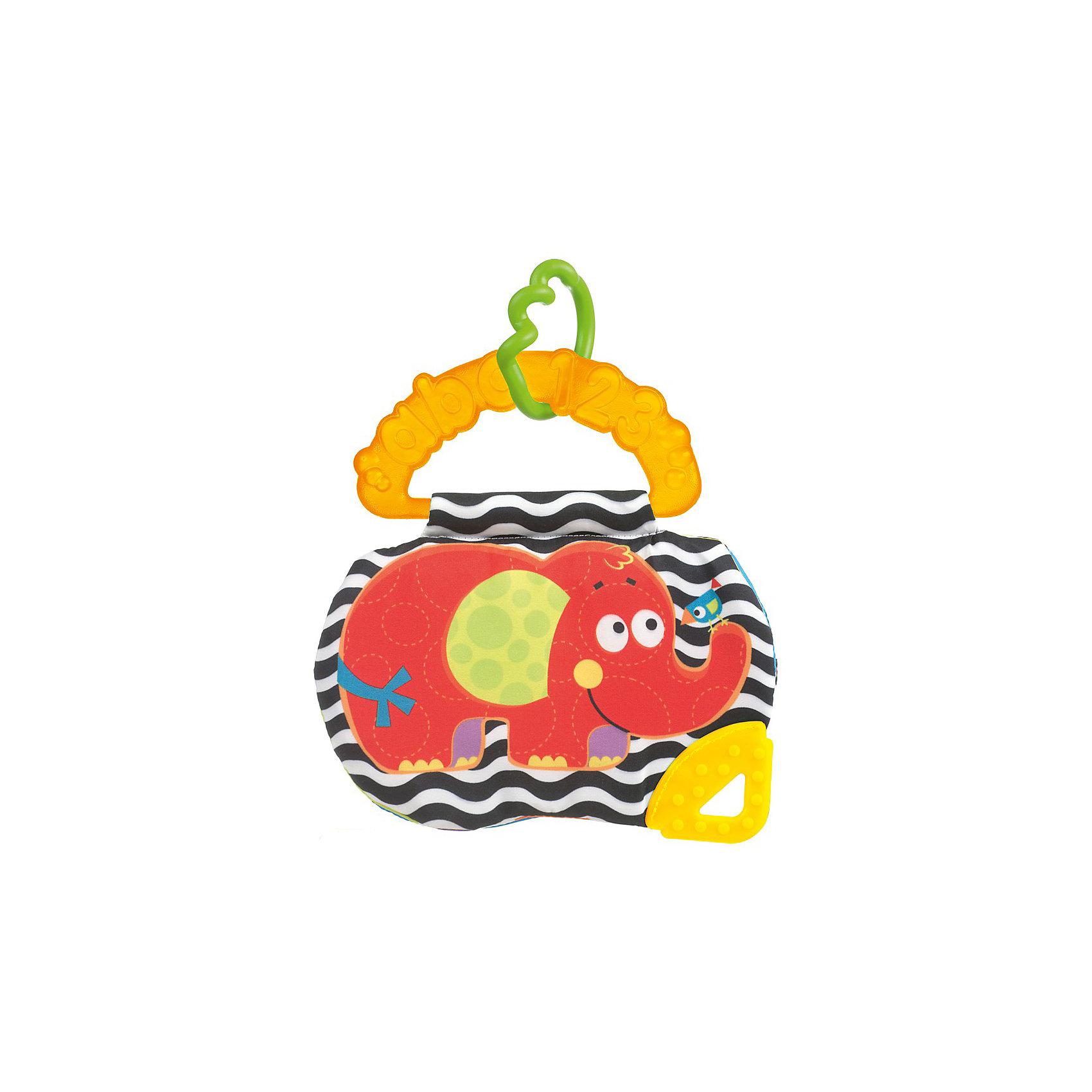 Playgro Книжка-прорезыватель Слоник, Playgro прорезыватели playgro книжка прорезыватель ферма
